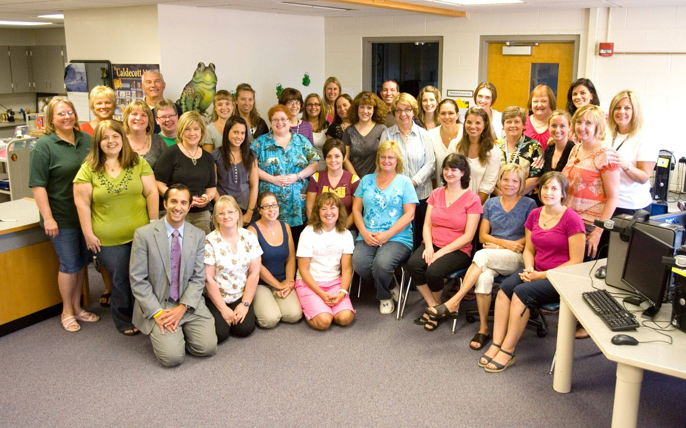 The teaching staff at Spring Hills School in Roselle.