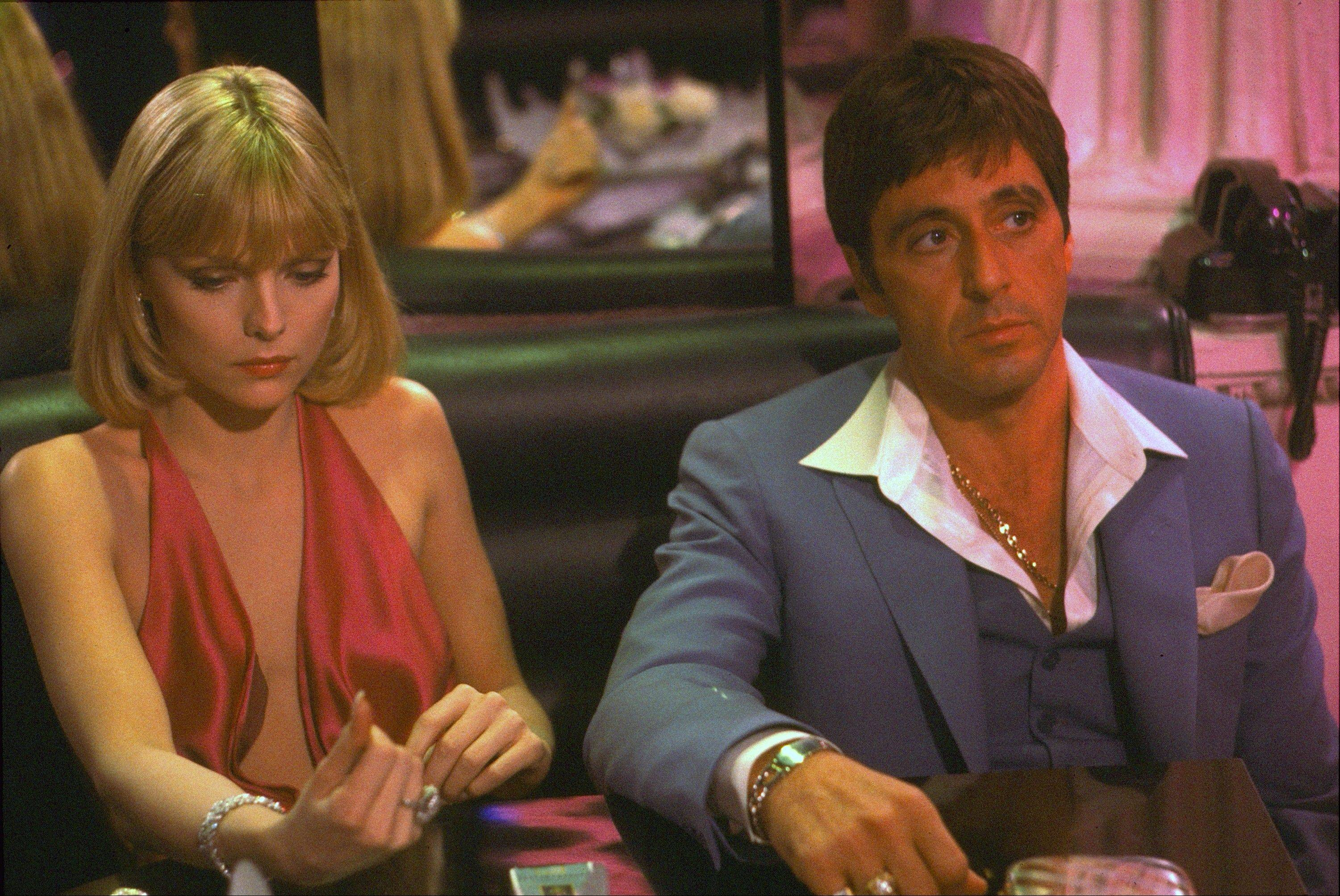"Al Pacino and Michelle Pfeiffer starred in the 1983 film ""Scarface."""