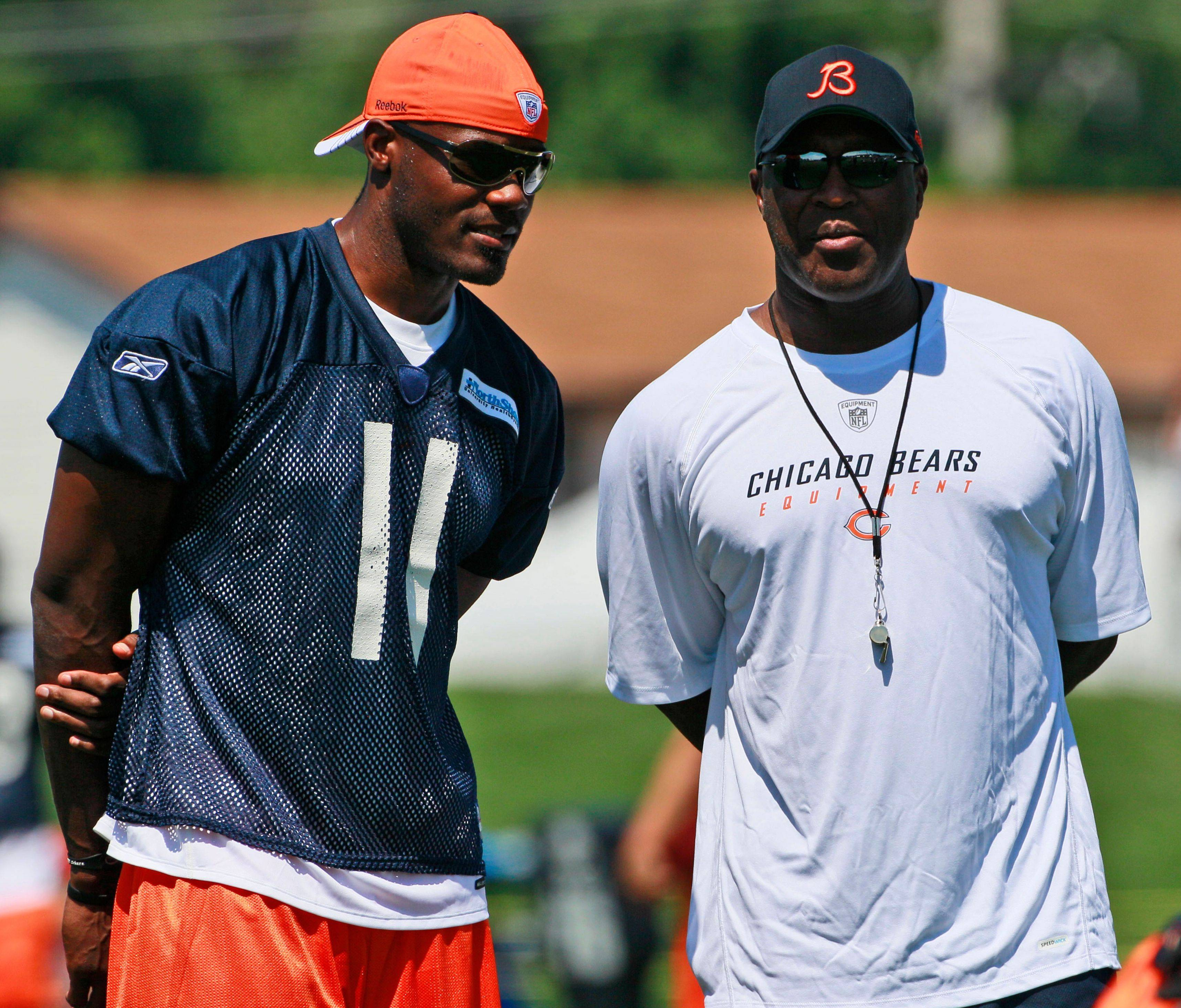 Bears coach Lovie Smith, right, says he isn't concerned with wide receiver Roy Williams' lack of production through the first two preseason games.