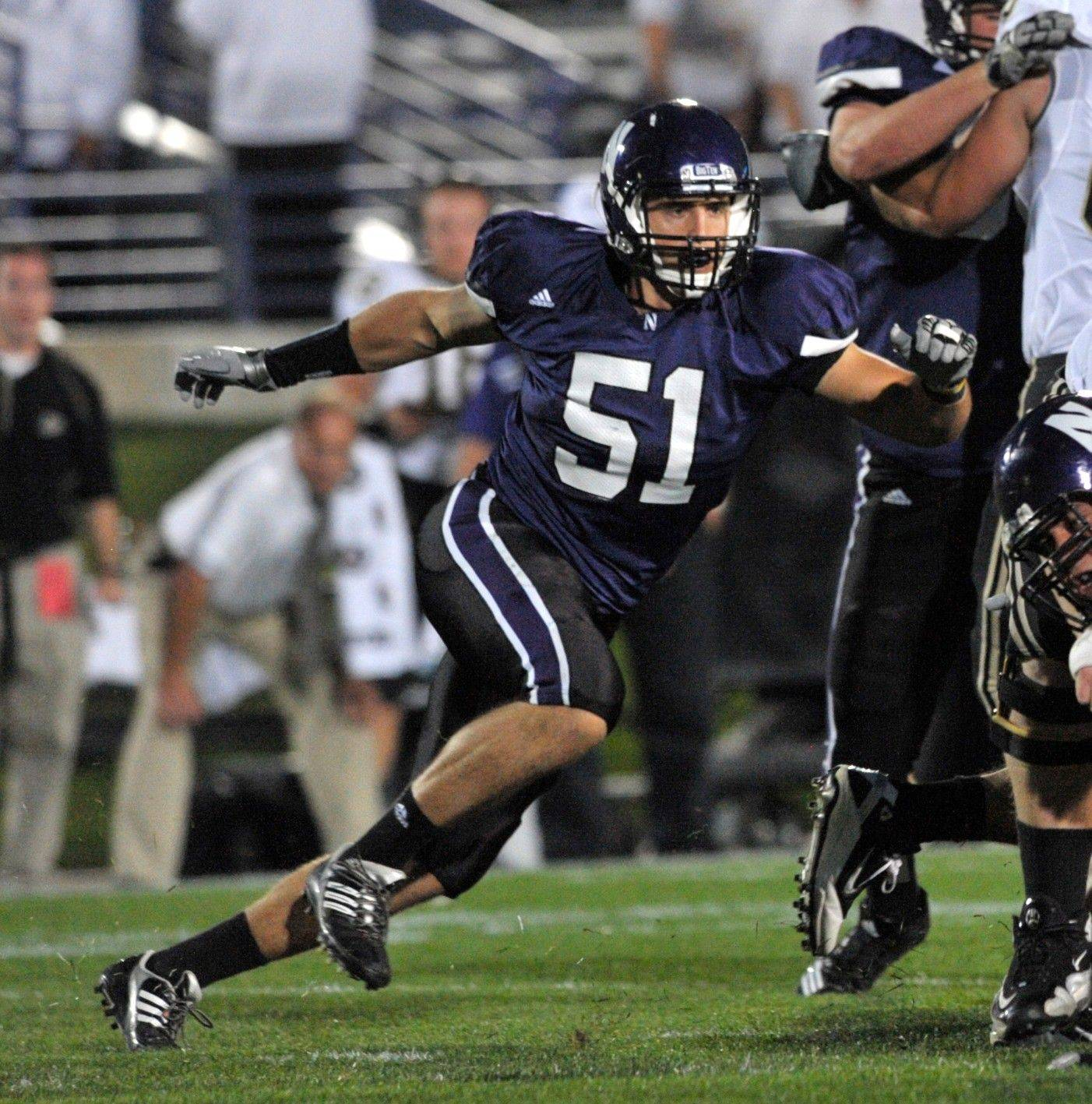 Bryce McNaul, a fifth-year senior, is the lone returning starter at linebacker for Northwestern, but there is plenty of competition at each linebacker spot for the Wildcats, and the coaching staff says the final unit could be its fastest yet.