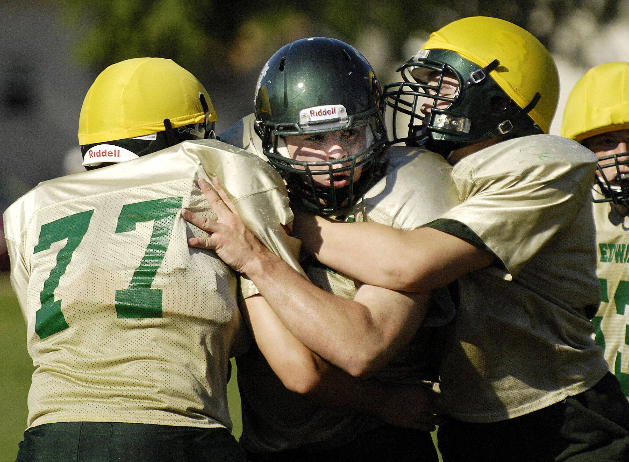 St. Edward defensive lineman Evan Finnane, a the Division I recruit, will be tough for opponents to handle this season.