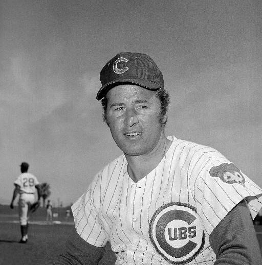Chicago Cubs infielder Ron Santo in Scottsdale, Ariz., in 1971.