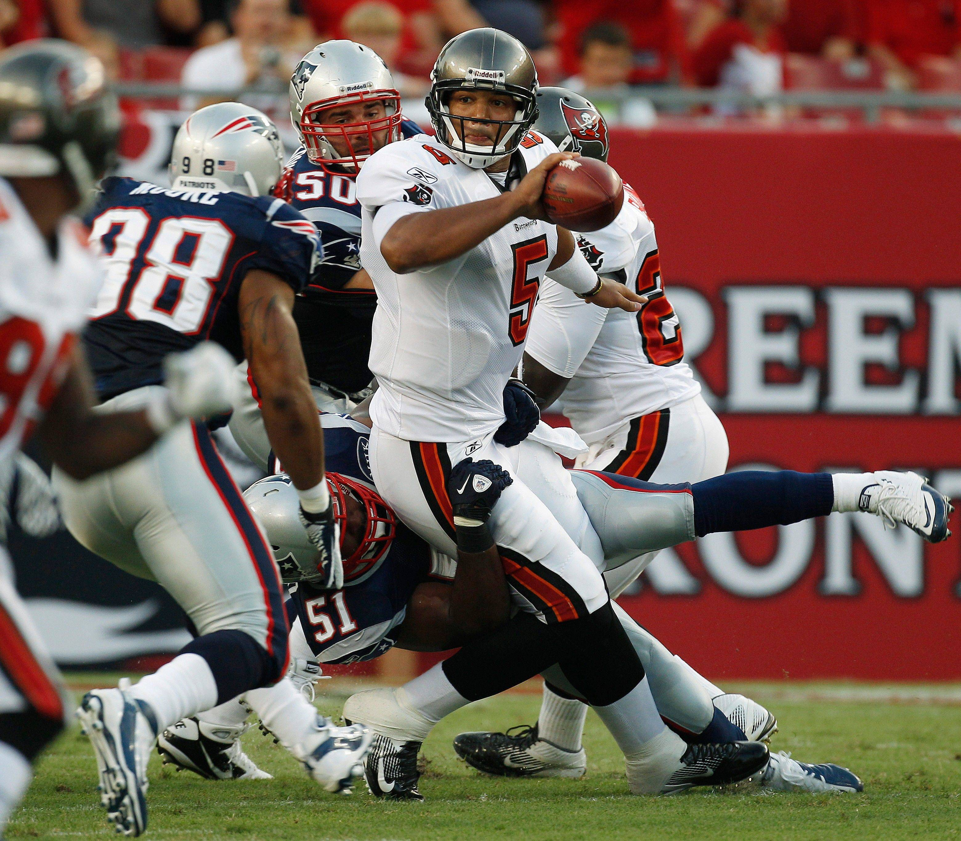 Only Aaron Rodgers and Michael Vick had more rushing yards among quarterbacks than Tampa Bay's Josh Freeman (above).