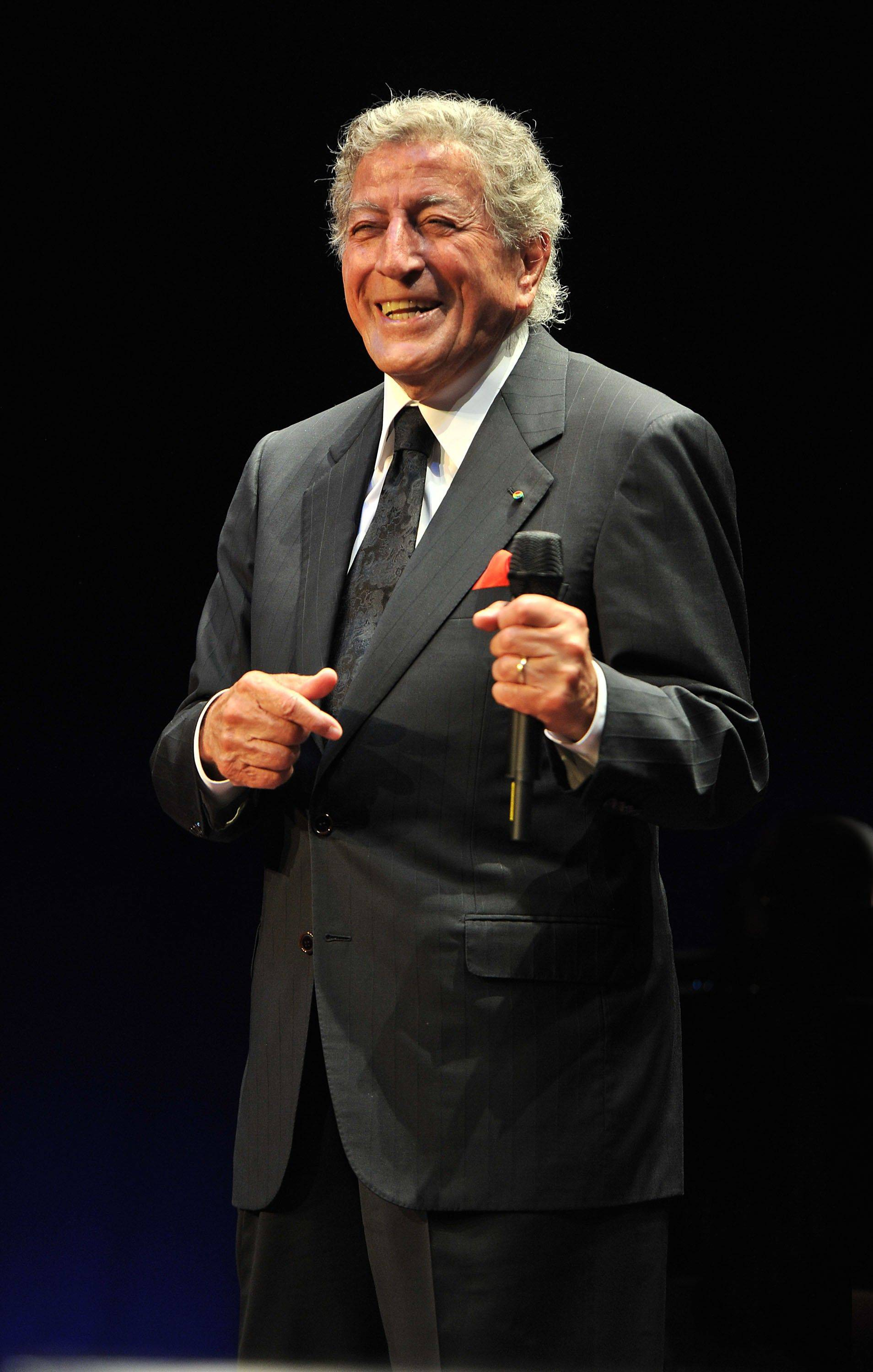 Tony Bennett performs an 85th Birthday Concert at the Ravinia Festival in Highland Park.