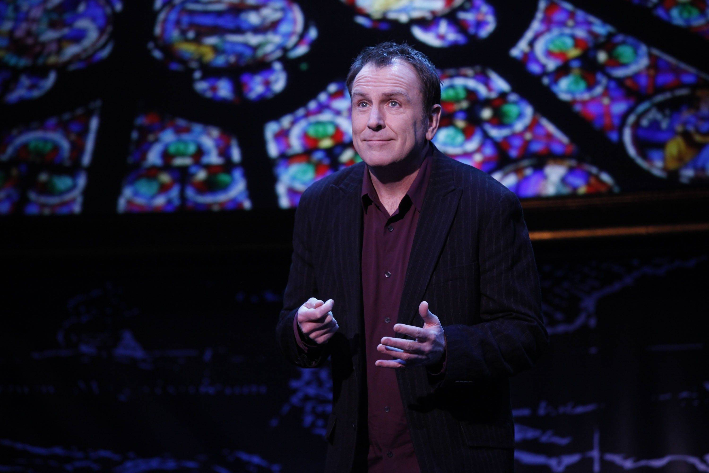 "Comedian Colin Quinn brings his one-man show ""Long Story Short"" — a dissection of human history and human nature — to the Broadway Playhouse at Water Tower Street for a brief run"