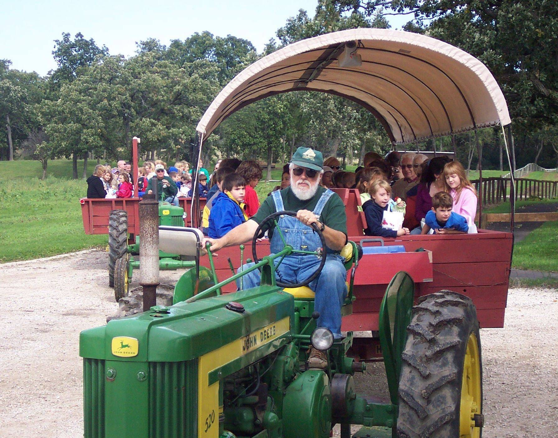 Families can enjoy rides and other amenities at Royal Oak Farm in Harvard.
