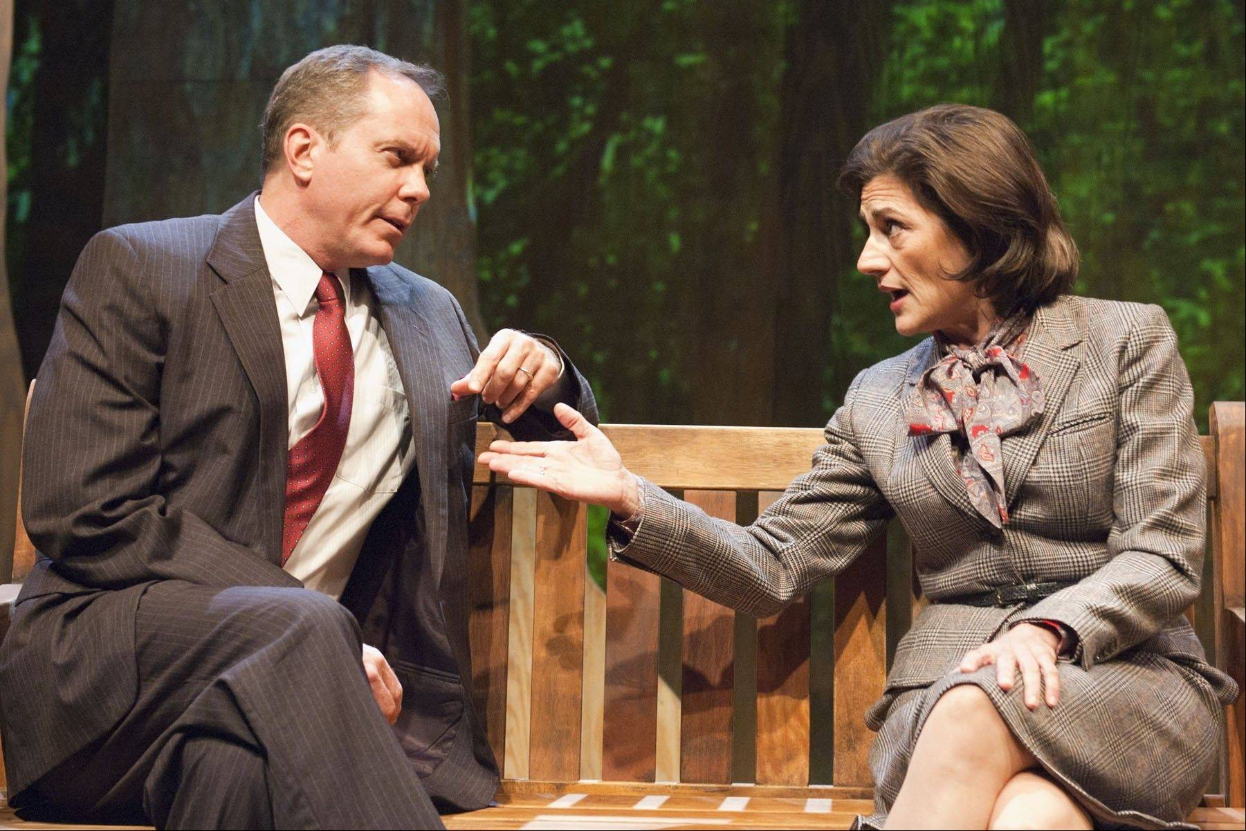 """A Walk in the Woods,"" Lee Blessing's 1986 drama about a U.S. envoy and his Soviet counterpart's efforts to come to an agreement on reducing nuclear arms, is dated. But Nick Bowling's revival for TimeLine Theatre's is worth seeing for the performances of Janet Ulrich Brooks and David Parkes."
