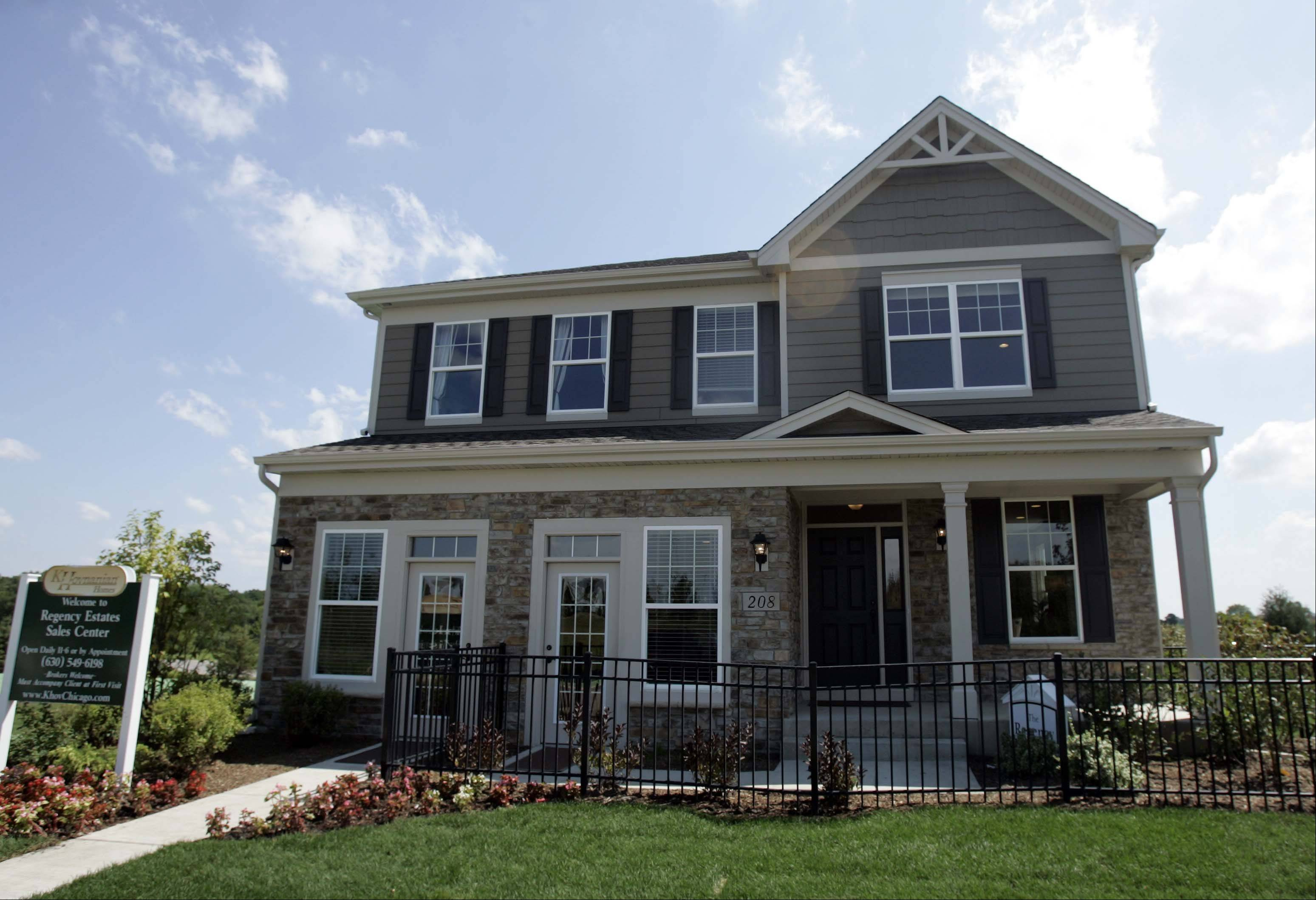 The professionally decorated Regency model is open for viewing at Regency Estates in St. Charles.