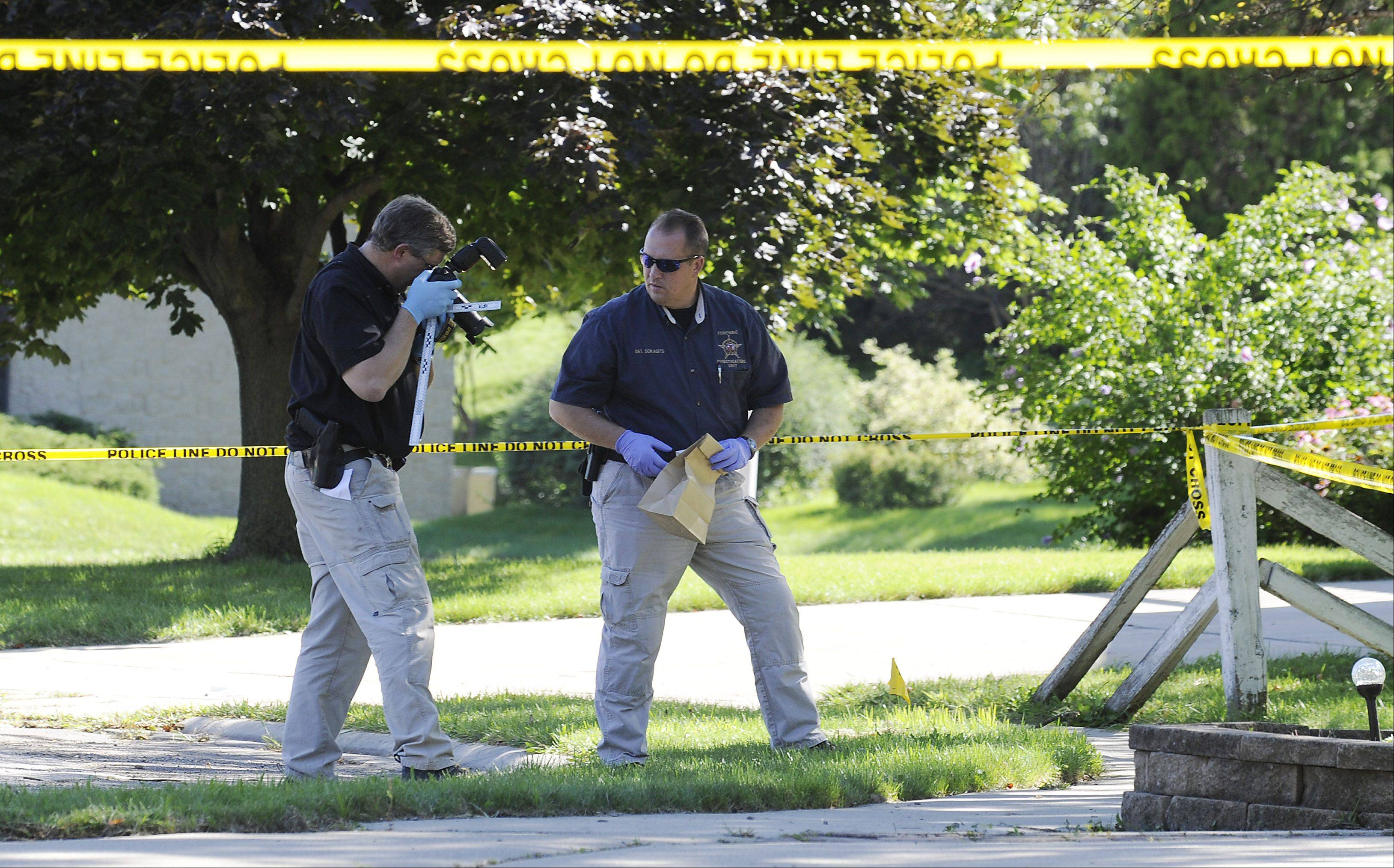 Hanover Park police were at the scene of a murder Thursday afternoon.