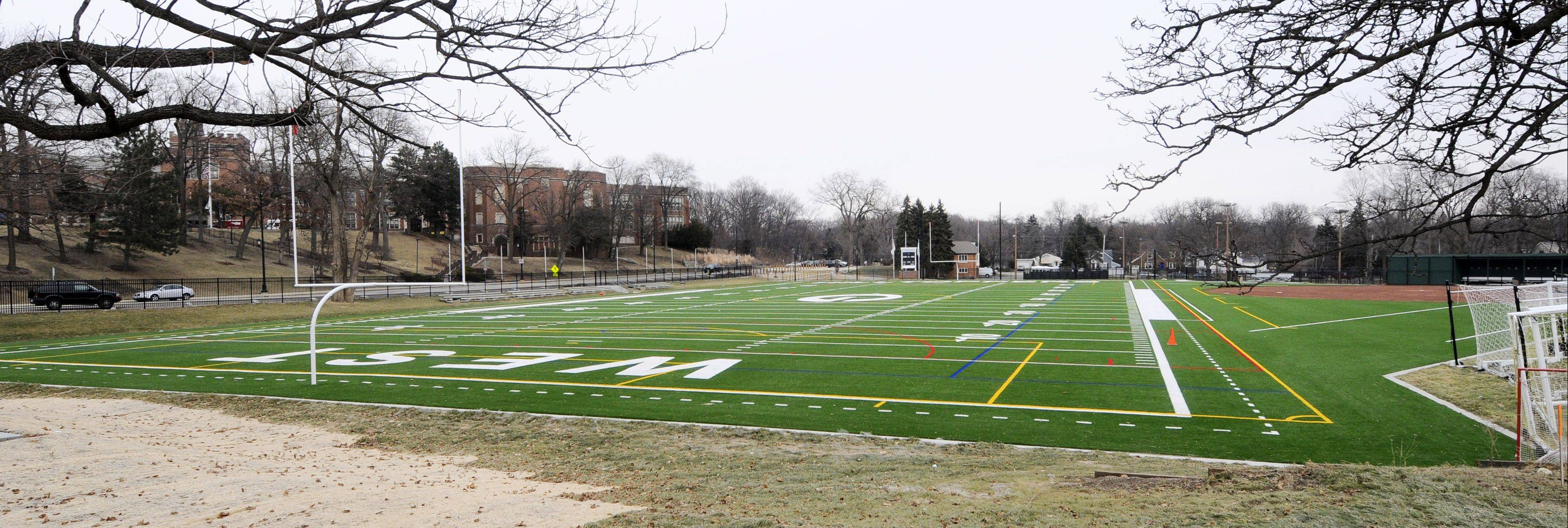 Officials at Glenbard High School District 87 want to add lights to Memorial Field, across from Glenbard West High School in Glen Ellyn.