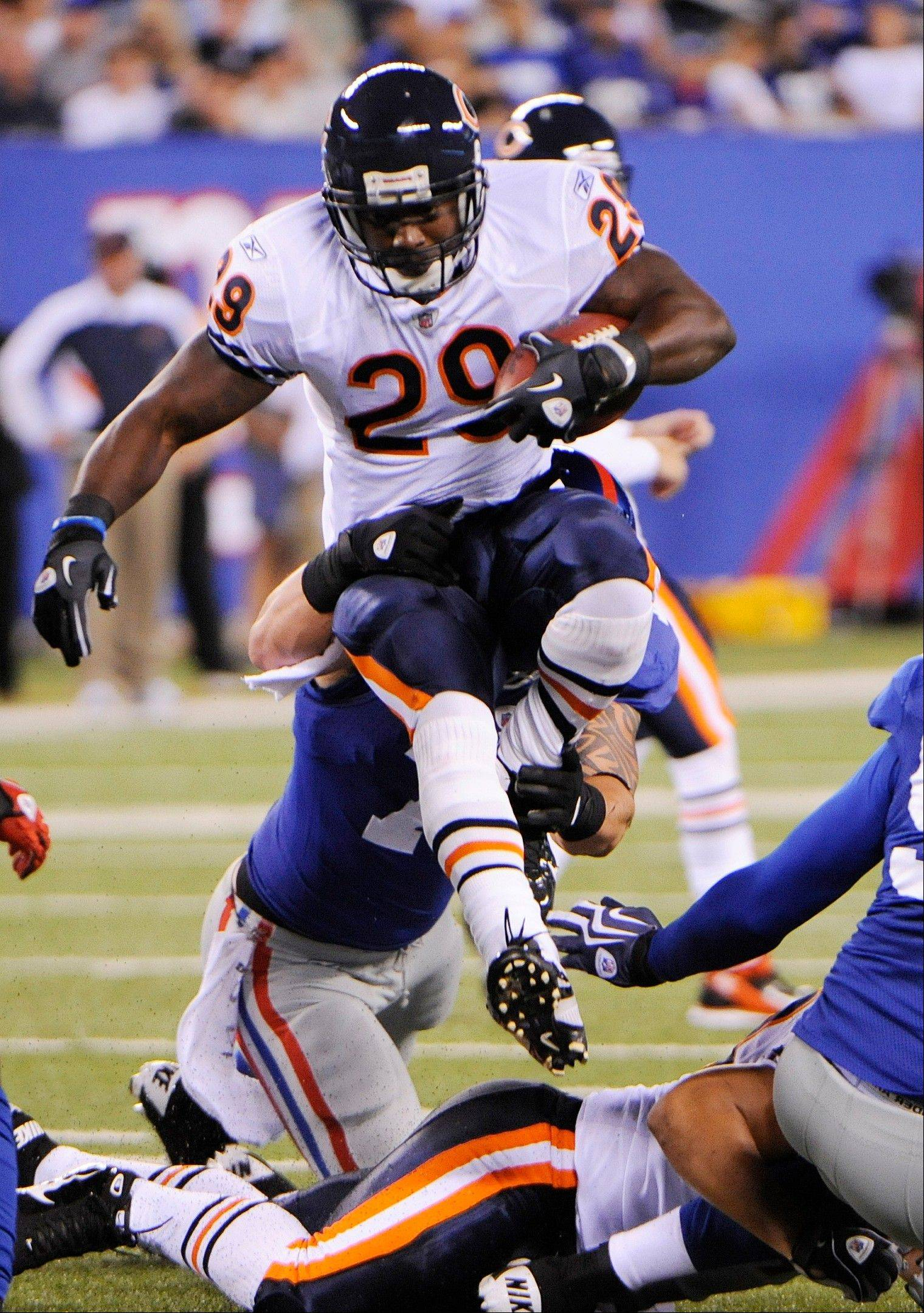 Bears backup running back Chester Taylor must leap over teammate Marion Barber to earn a roster spot behind Matt Forte.