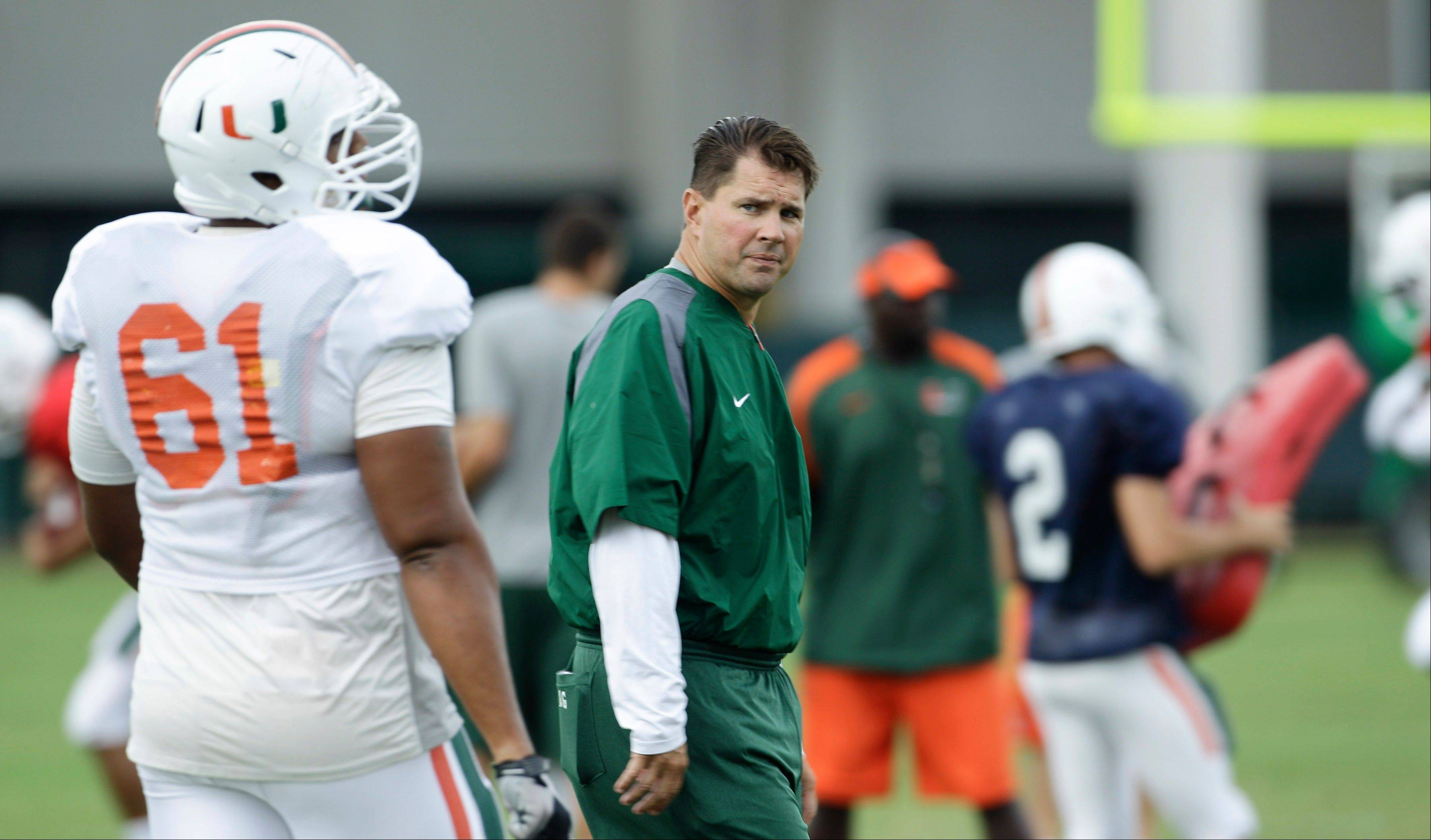 """We'll make sure we practice enough guys because we really don't know what the future brings,"" Hurricanes coach Al Golden said. ""Hopefully we'll find out pretty quickly here in the near future if there are any penalties or suspensions, and we'll adjust accordingly."""