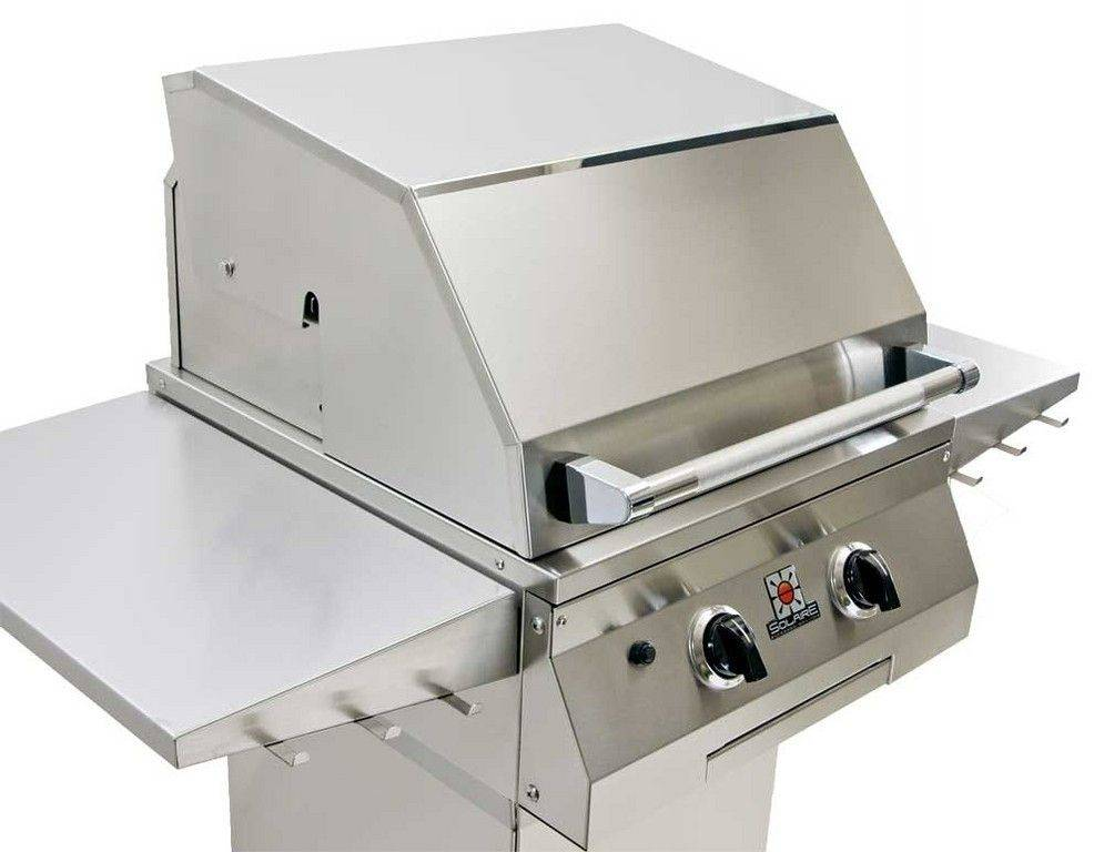 Solaire makes a series of outdoor grills that use infrared heat instead of convection cooking. This method sears in flavors, speeds cooking time and reduces the amount of propane used, the company says.