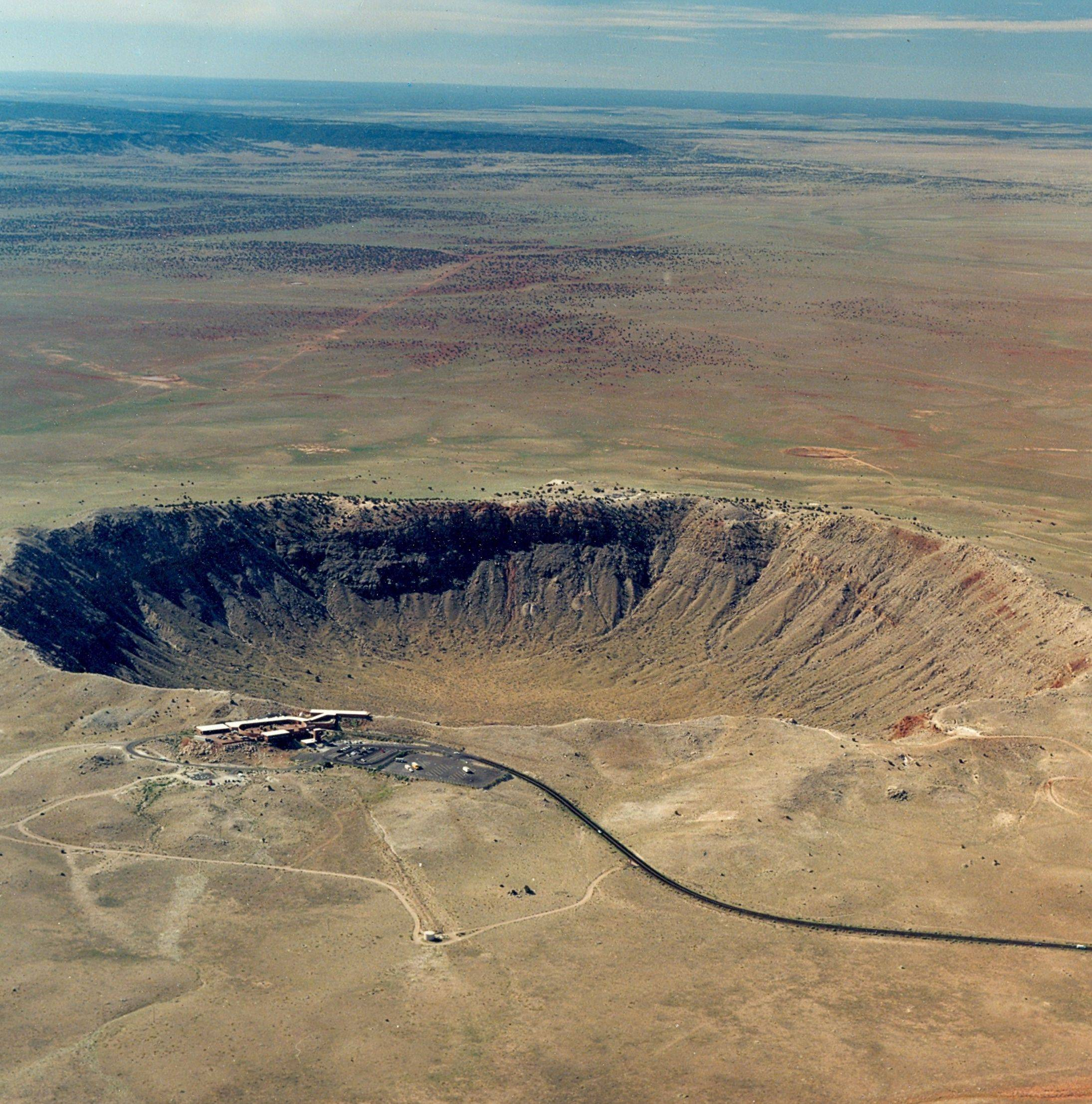 The Meteor Crater, near Winslow, Ariz., is the world's best-preserved meteor impact site. It's nearly a mile wide and over 550 feet deep.