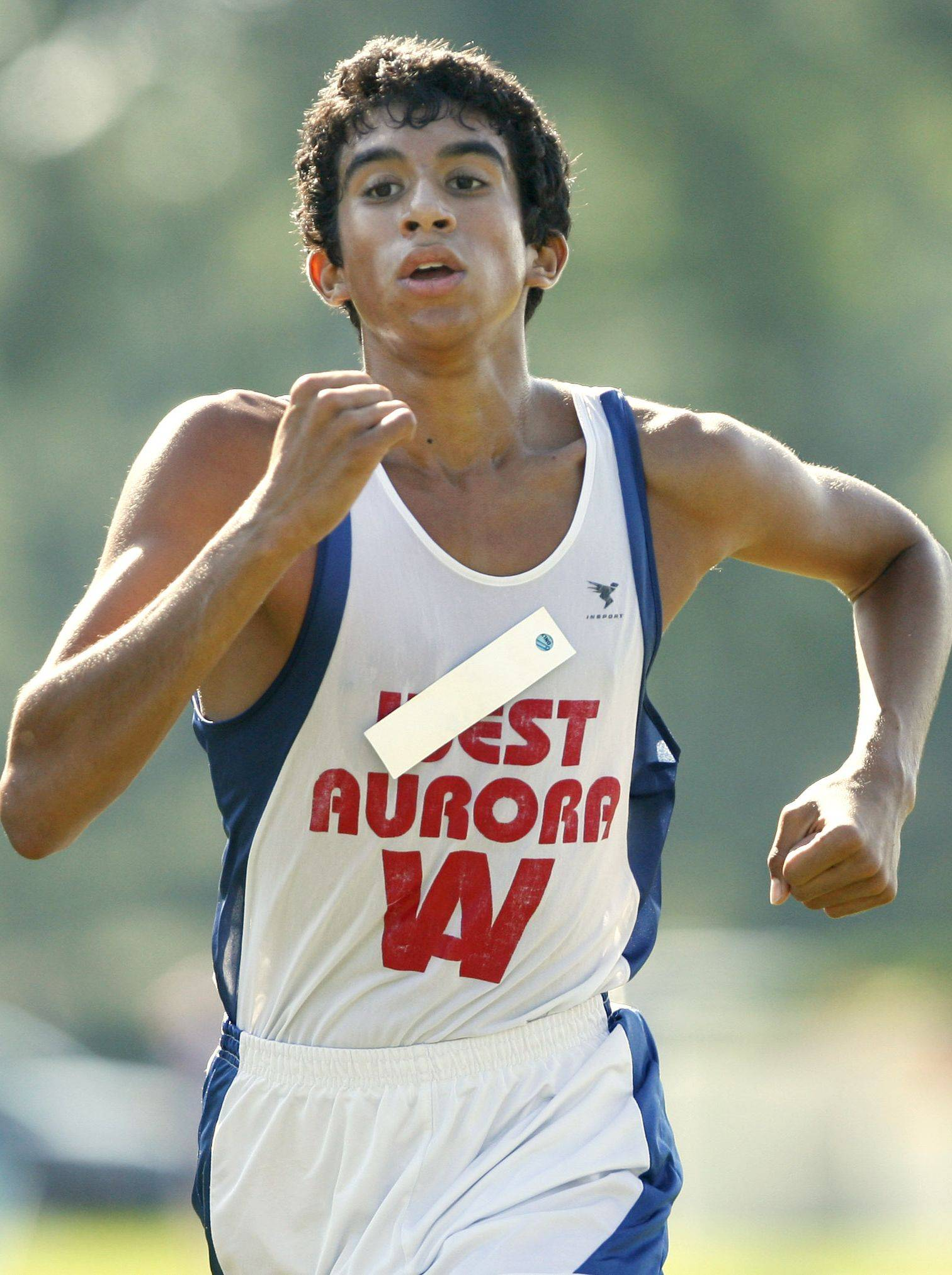 West Aurora junior Omar Gomez opened the season Saturday by winning the Aurora City meet.