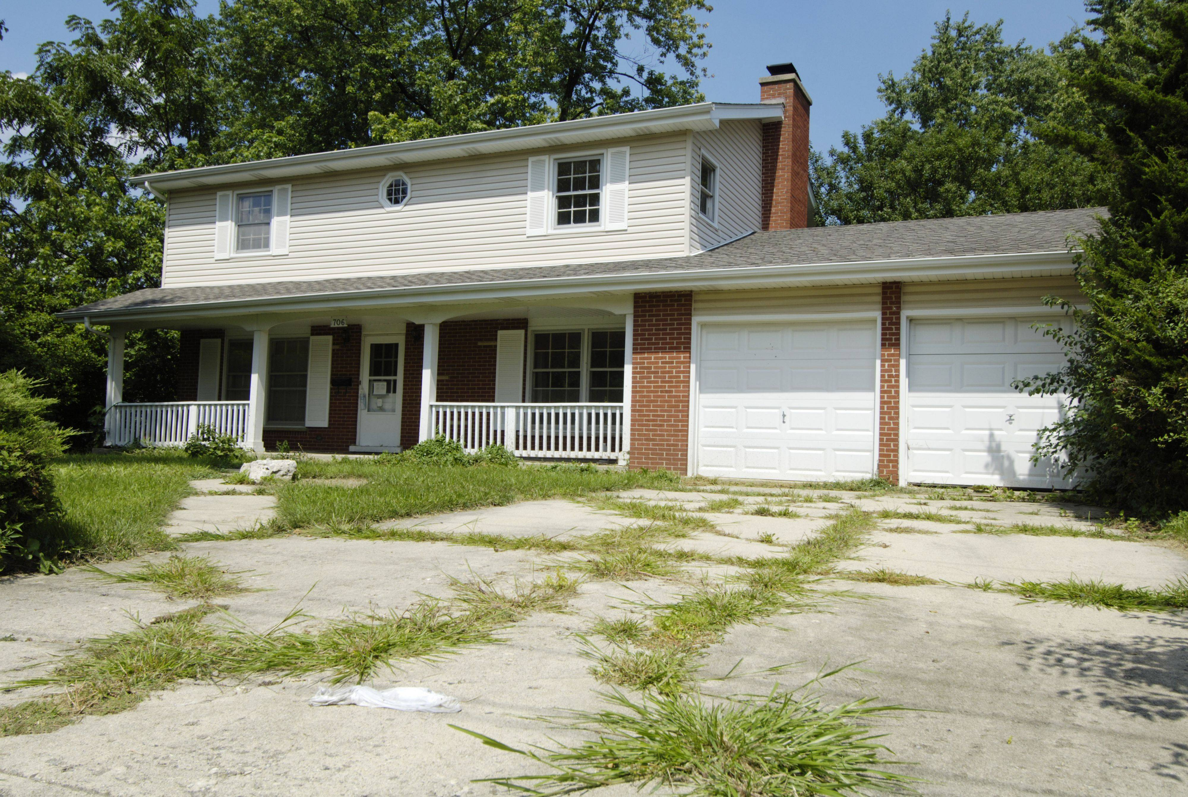 This vacant house on East Baldwin Road still shows the signs of neglect that can come with unoccupied properties.