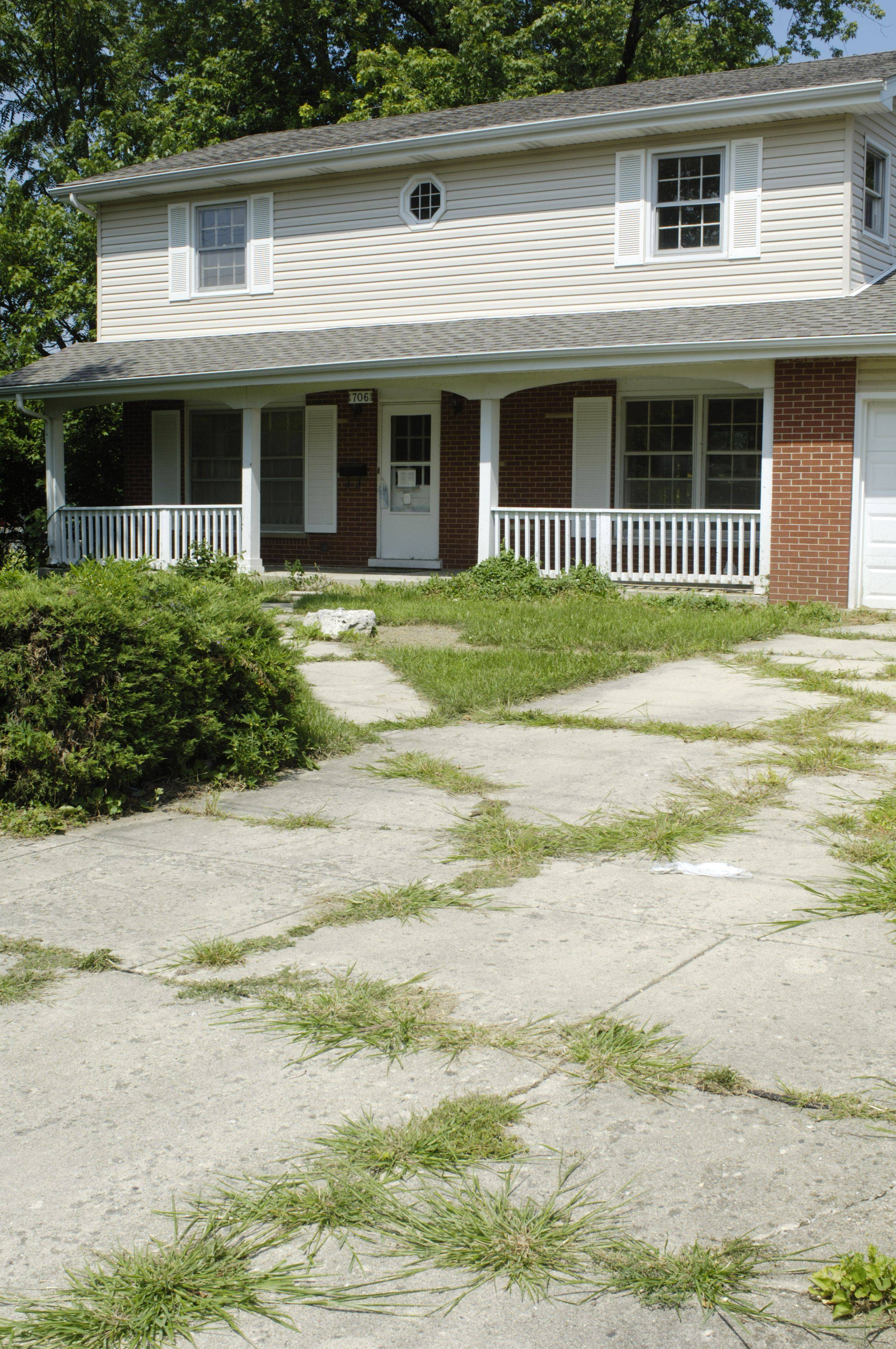 While Palatine has a program to keep up vacant homes, intervening to mow when necessary, this vacant house in the 700 block of East Baldwin Road still shows the signs of neglect that can come with unoccupied properties.