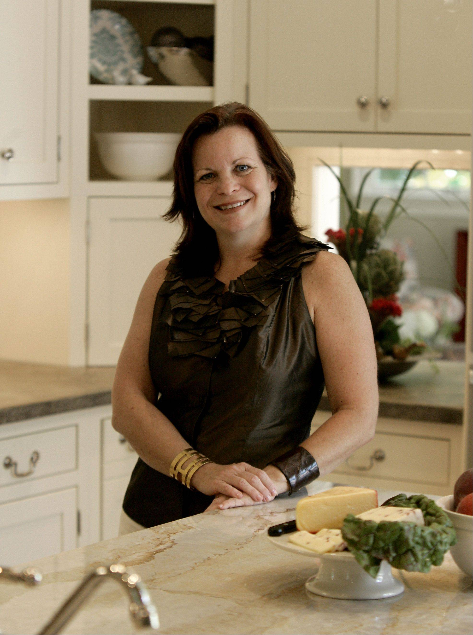 Susan Brunstrum of sweetpeasdesign helped the Lake Bluff homeowner select changes for her kitchen.