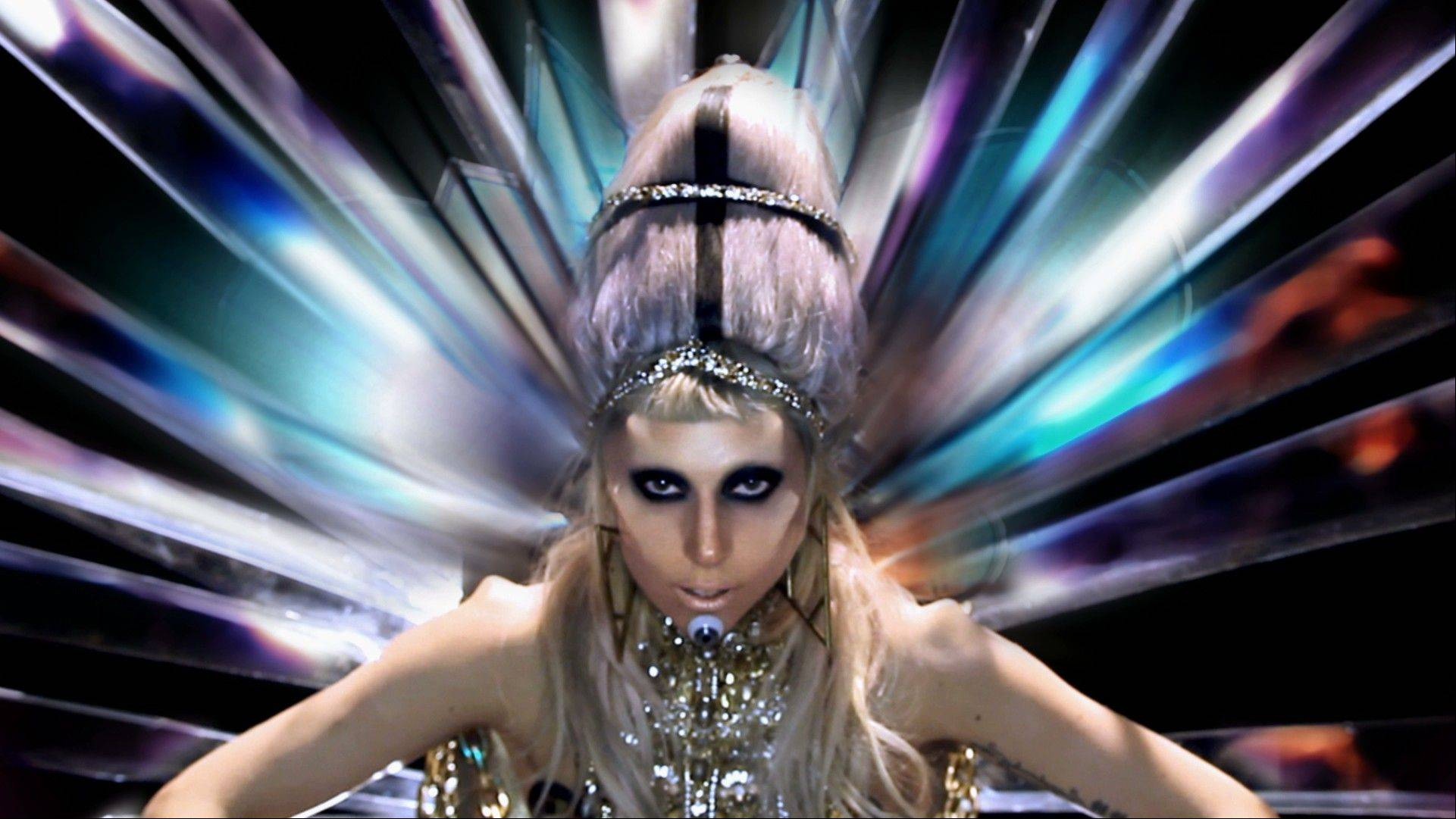 "In this music video image released by Interscope Records, a sceen from Lady Gaga's ""Born This Way"" video is shown. The video is nominated in the new category Best Video with a Message at the 2011 MTV Video Music Awards on Sunday Aug. 28, 2011."