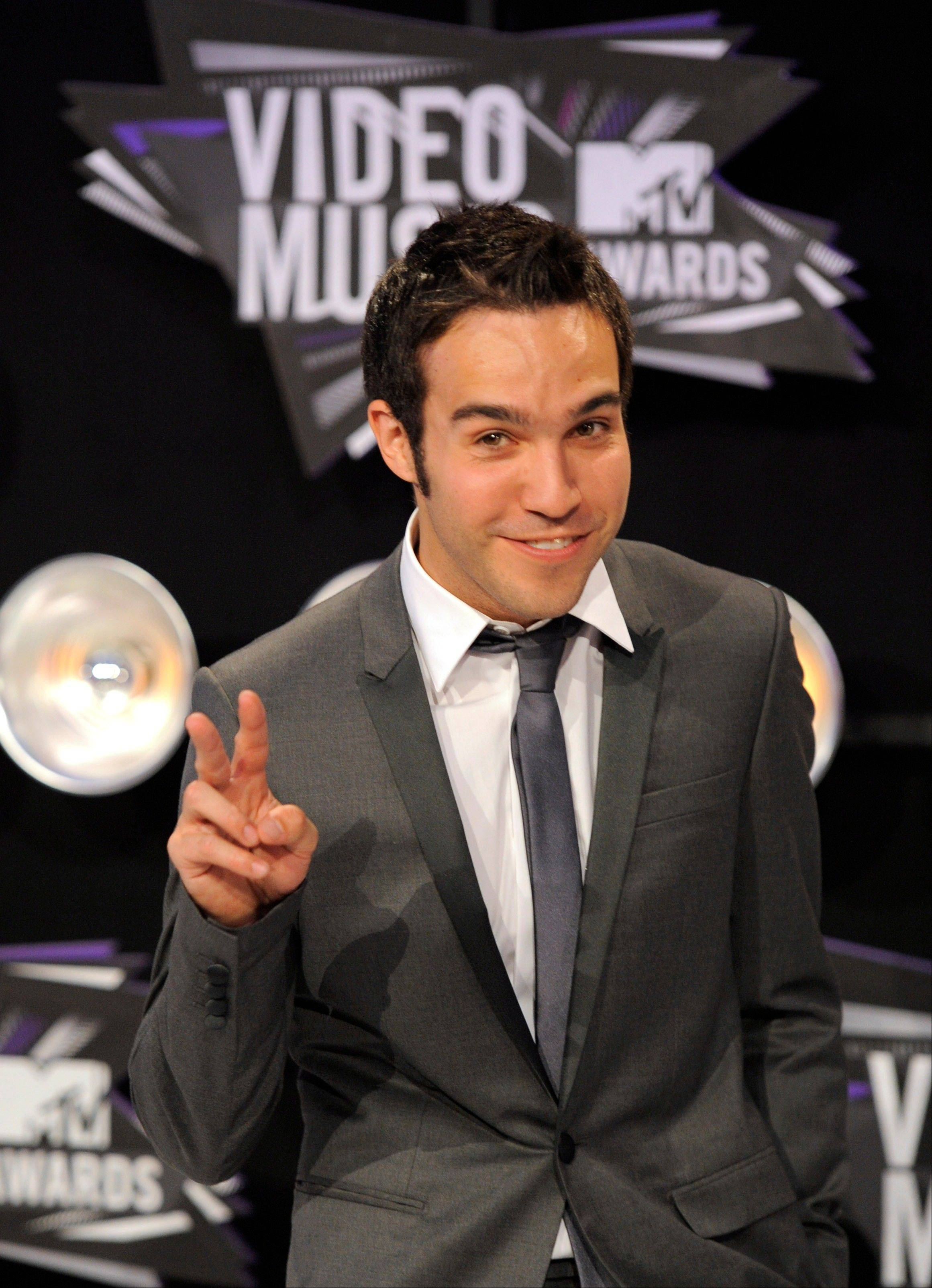 Pete Wentz arrives at the MTV Video Music Awards on Sunday in Los Angeles.