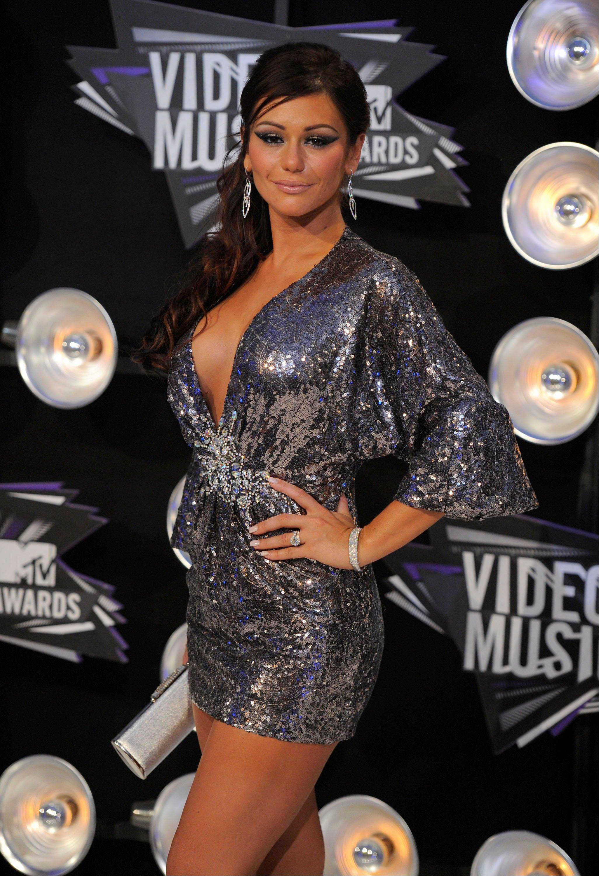 "Jennifer ""JWoww"" Farley, of the cast of ""Jersey Shore,"" arrives at the MTV Video Music Awards on Sunday in Los Angeles."