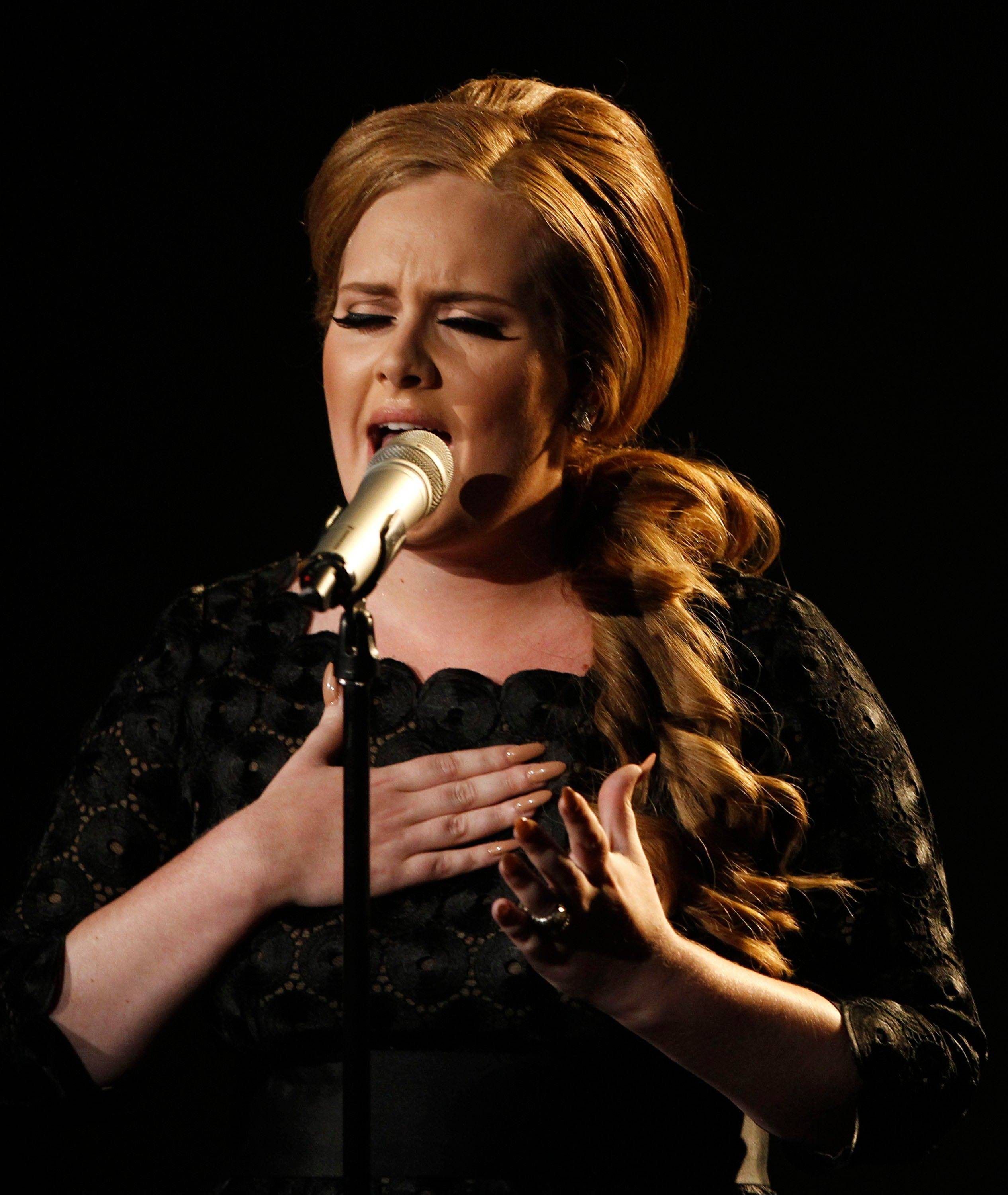 Adele performs at the MTV Video Music Awards on Sunday in Los Angeles.