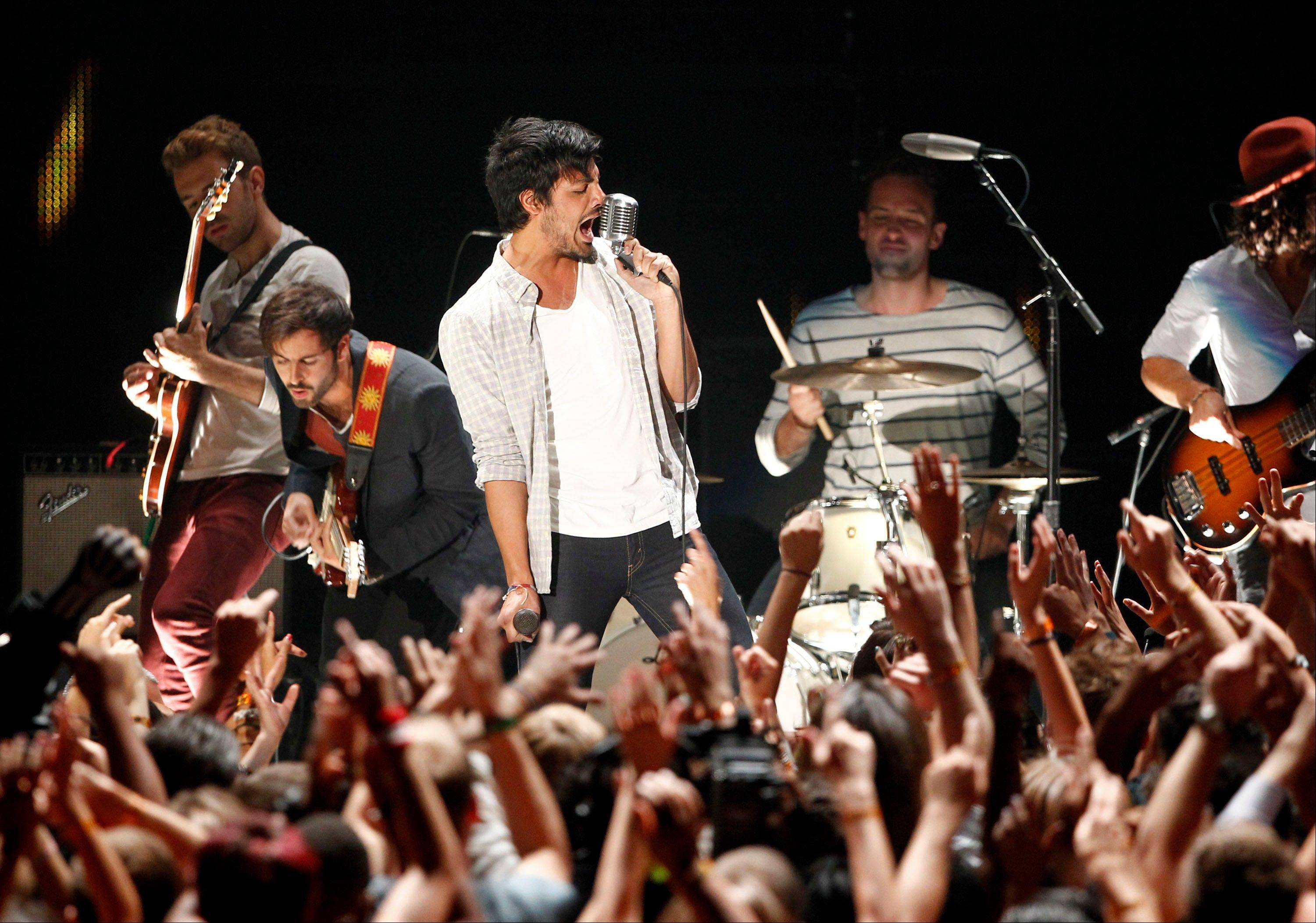 Young the Giant perform at the MTV Video Music Awards on Sunday in Los Angeles.