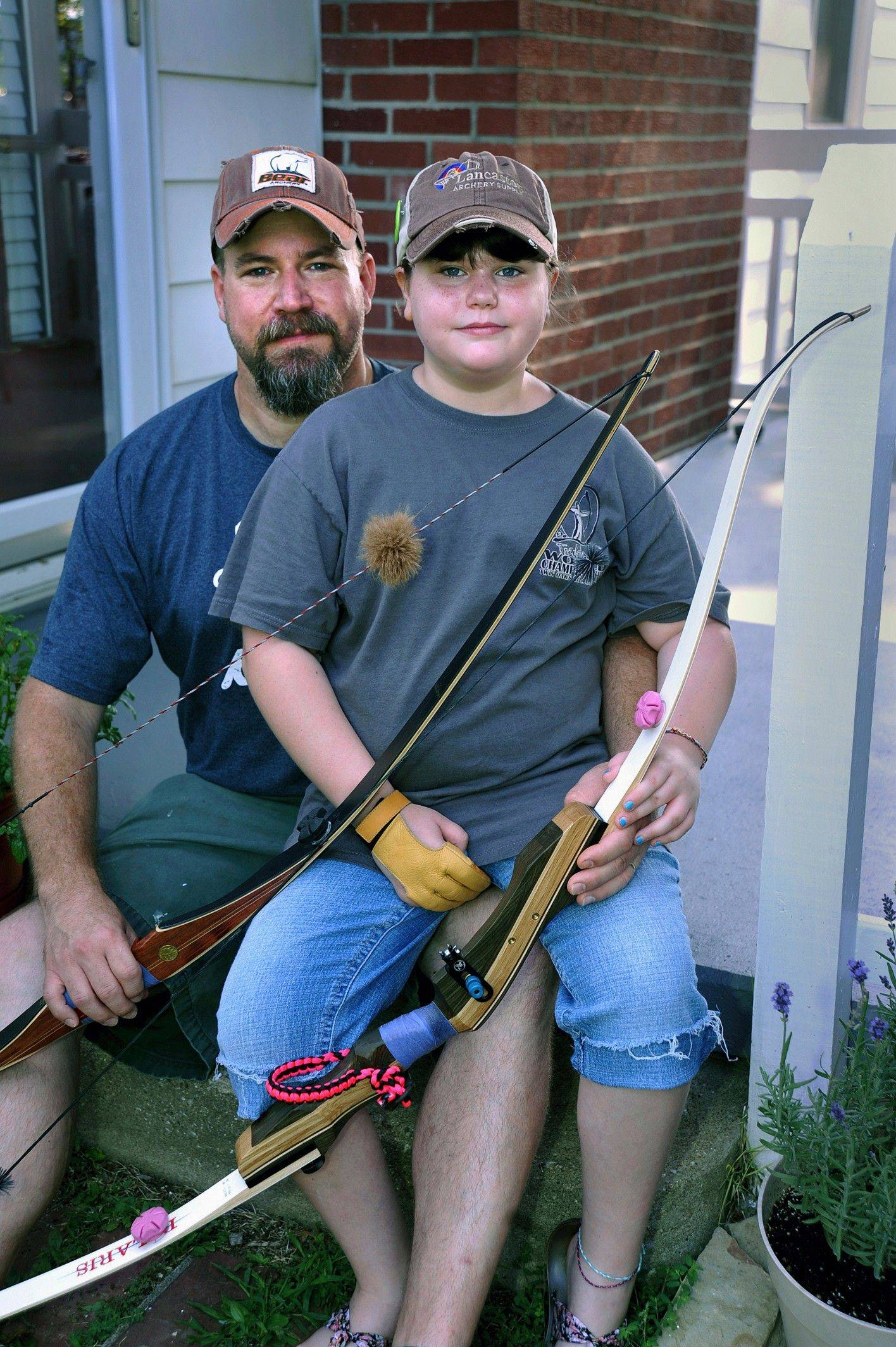 Molly McHargue, 9, of Herrin has been perfecting her archery skills and winning competitions like her dad, Paul. Molly was awarded second place July 17 in the cub division for 8- to 10-year-olds at the International Bow Hunters Organization Traditional World Championship in Clarksville, Tenn.
