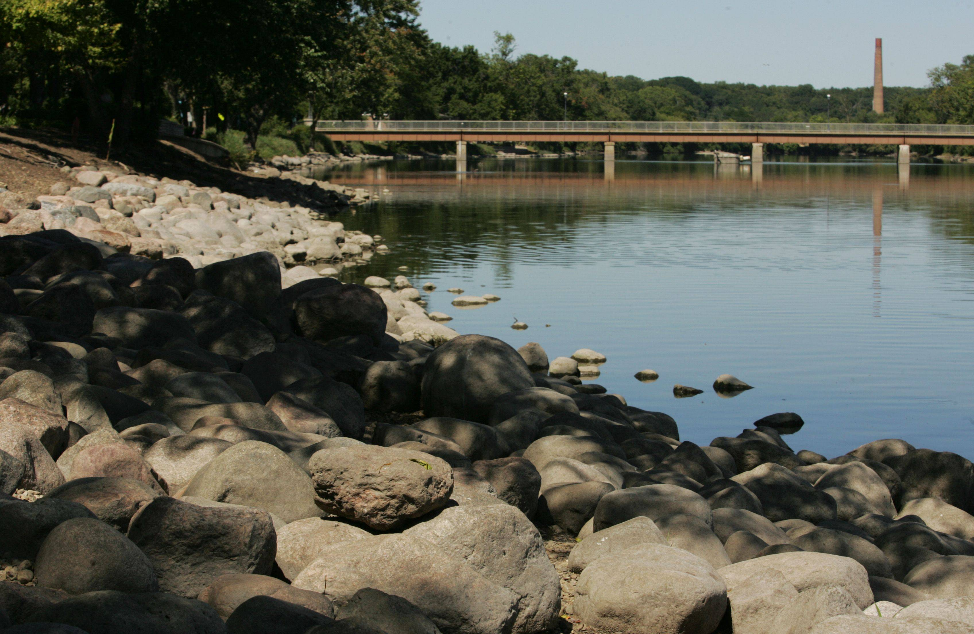 The western shore of the Fox River is lined with large rocks on the north side of the village. West Dundee has expanded the first phase of its riverbank stabilization project by 90 feet, which adds nearly $10,500 to its cost.