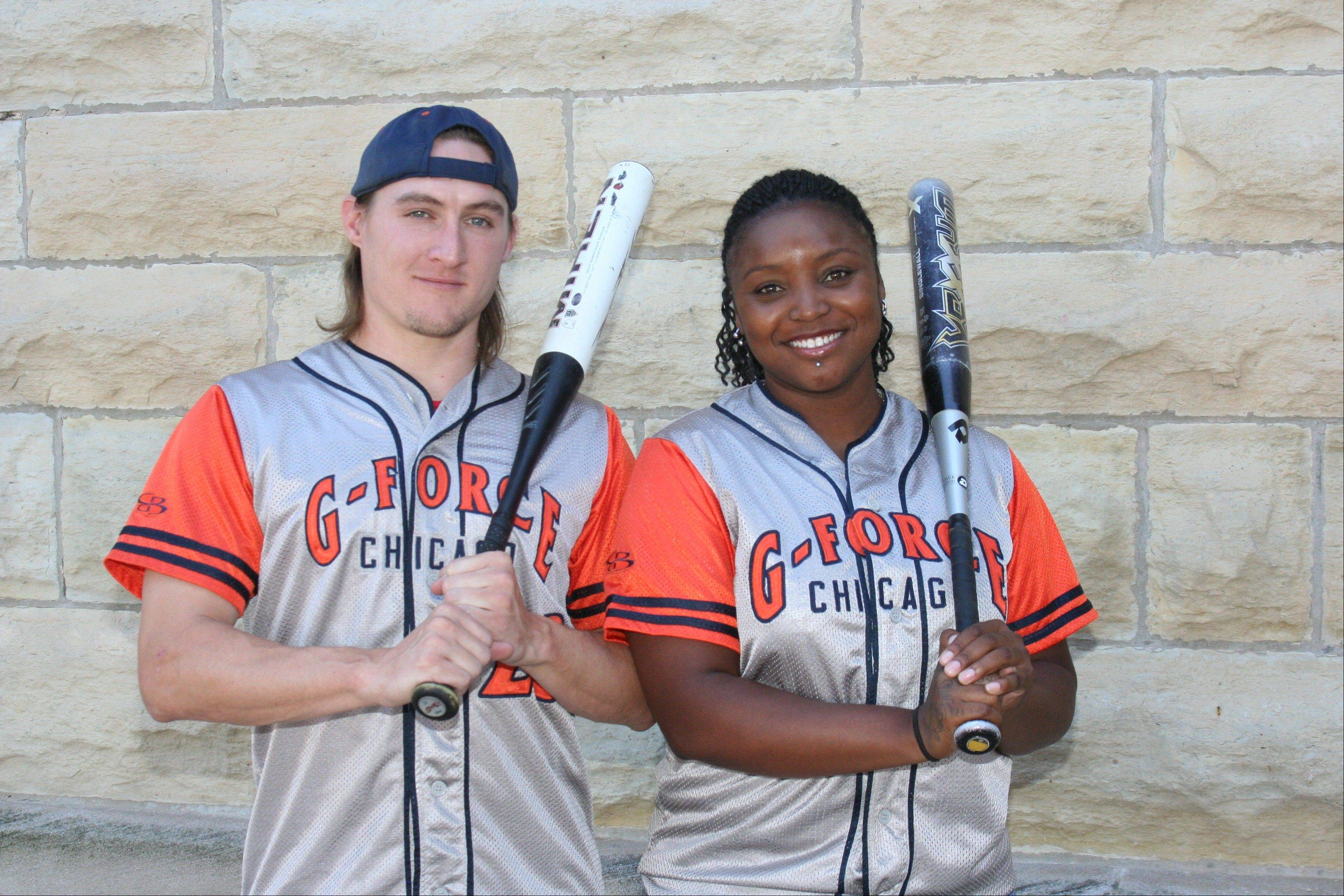 Suburban natives Paul Kenost and Tatania Gipson will be among the straight players competing in this week's Gay Softball World Series.