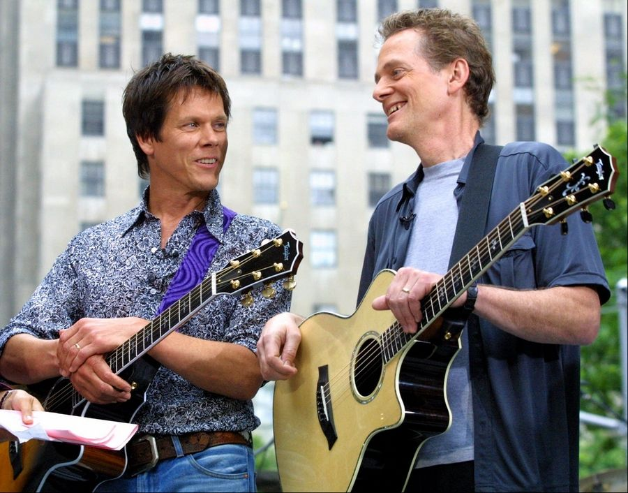 Actor Kevin Bacon, left, and his brother Michael have been touring as The Bacon Brothers since 1995. The pair will play Aurora's Paramount Theatre at 8 p.m. Tuesday, Aug. 30.