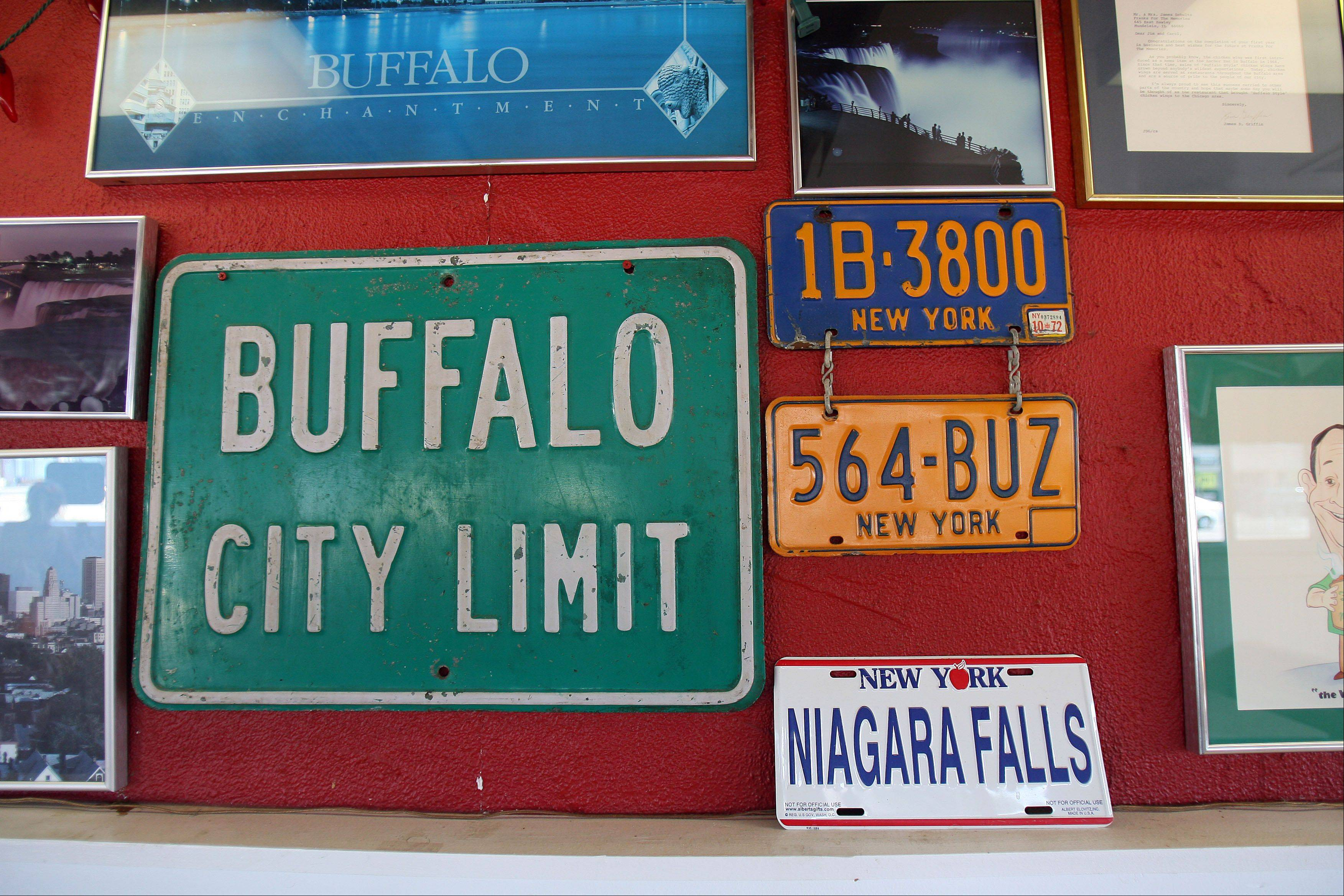 References to Buffalo, N.Y., hang on the walls of Franks for the Memories in Mundelein. The wing joint will participate in the $START_URL$National Buffalo Wing Festival;http://www.buffalowing.com/$STOP_URL$ in Buffalo over Labor Day weekend. Franks is the only Illinois restaurant in this year's competition.