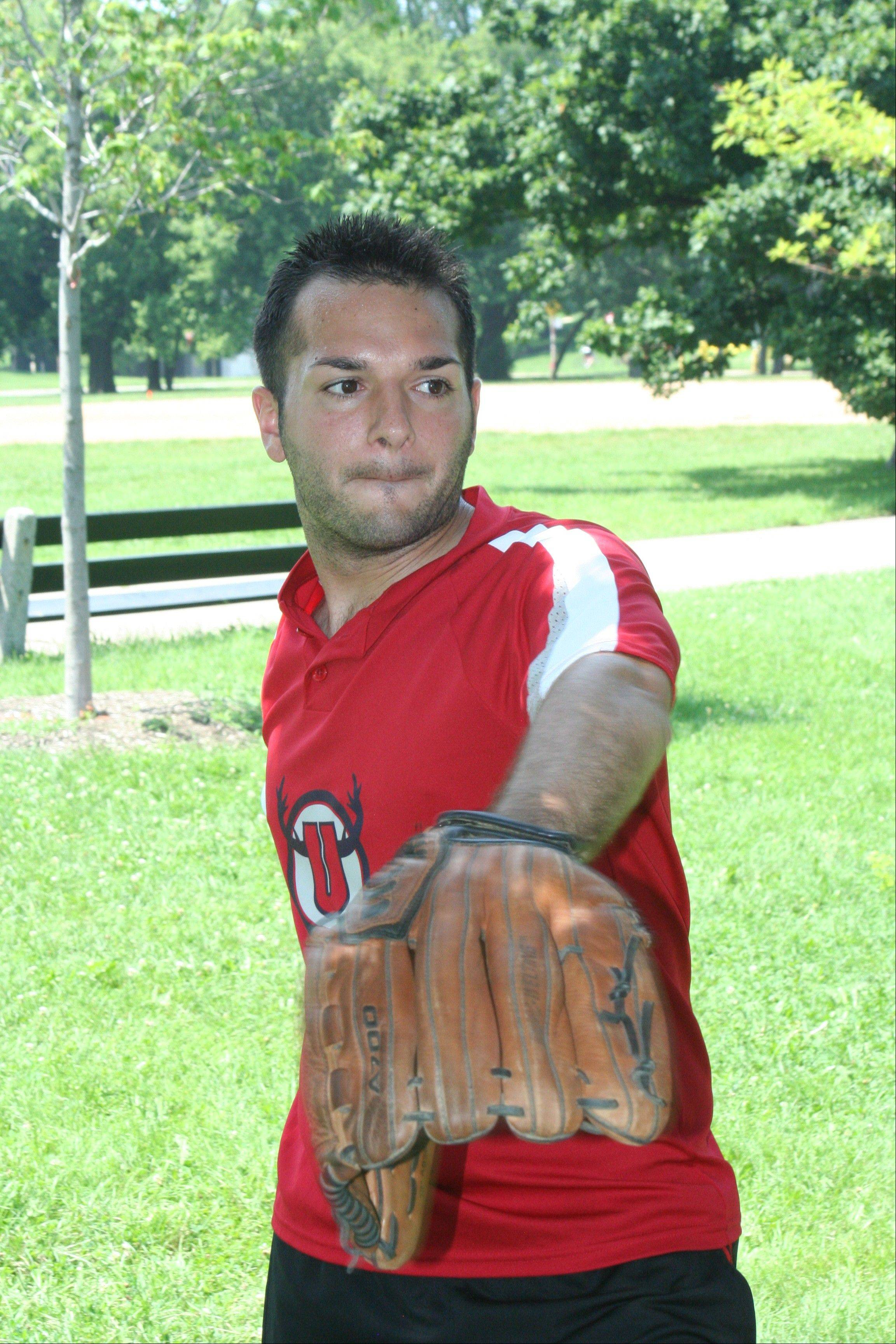 Jeff Book, 29, of Elk Grove Village, will be on one of the 150 teams playing in this week's Gay Softball World Series.