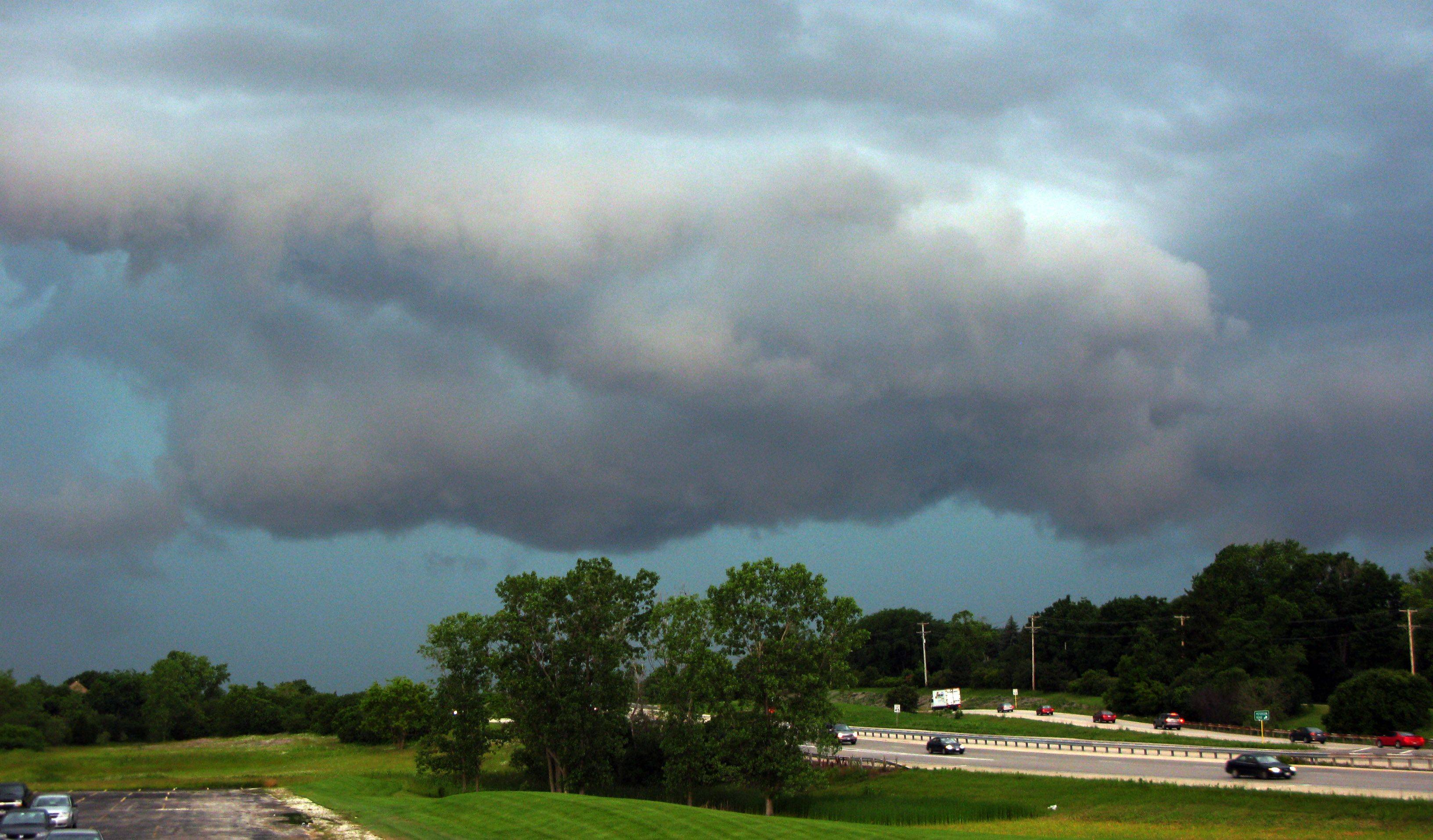 Storm clouds roll into Libertyville with high winds and heavy rain close behind.