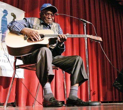 "Blues singer David ""Honeyboy"" Edwards died of congestive heart failure Monday in his Chicago apartment. He was 96."