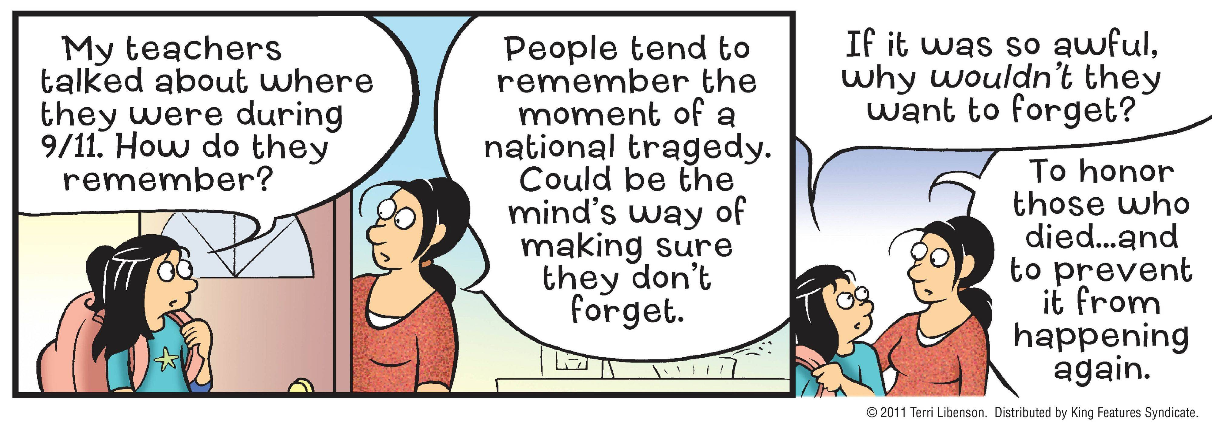 """Pajama Diaries"" will be one of the comic strips, which will be devoted to the 10th anniversary of the Sept. 11 terror attacks."