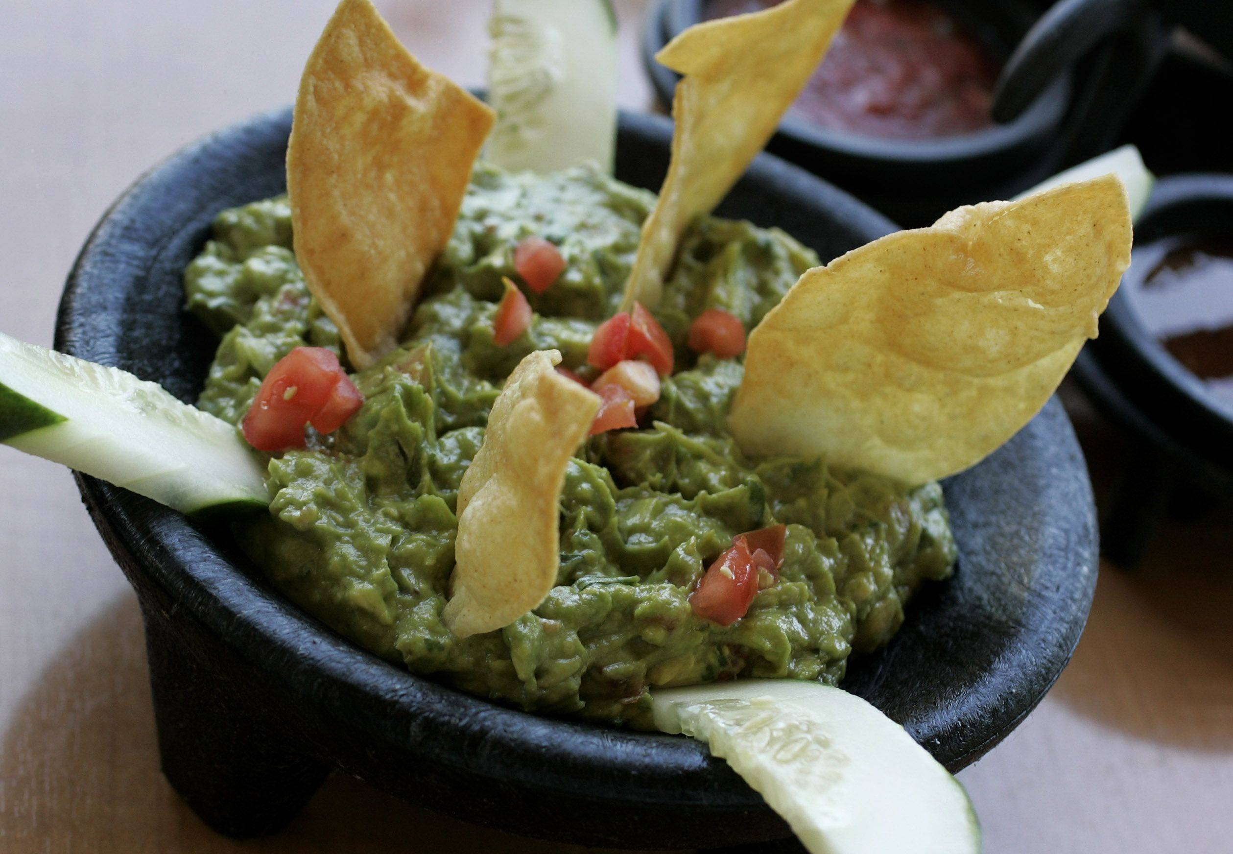 Guacamole and chips make an easy choice for a starter at Casa Bonita in Libertyville.