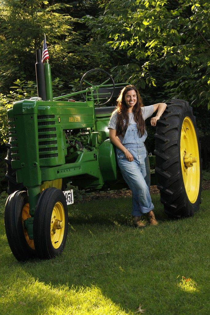 After Carolyn Kuhn's grandfather Al Lisson Jr. died in 1989, her father, Tom, set out to restore his beloved 1951 John Deere tractor. Kuhn will drive the refurbished tractor Monday in the Last Fling Labor Day Parade.