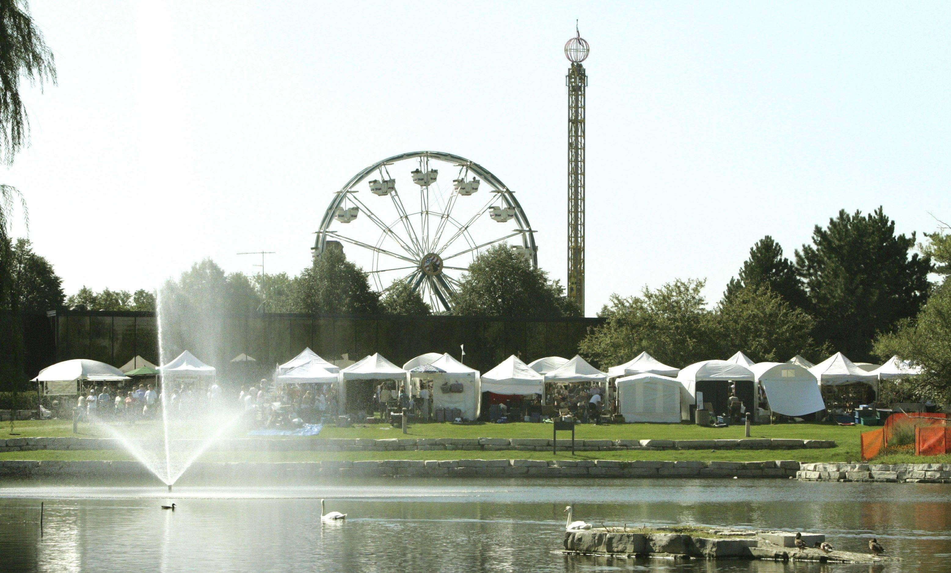 The municipal center grounds are alive during the first day of Schaumburg's 2007 Septemberfest.