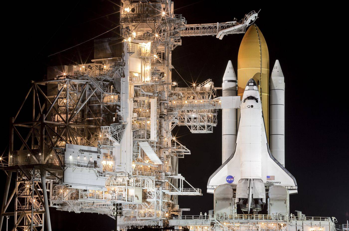 Final preparations under way for another space shuttle launch.