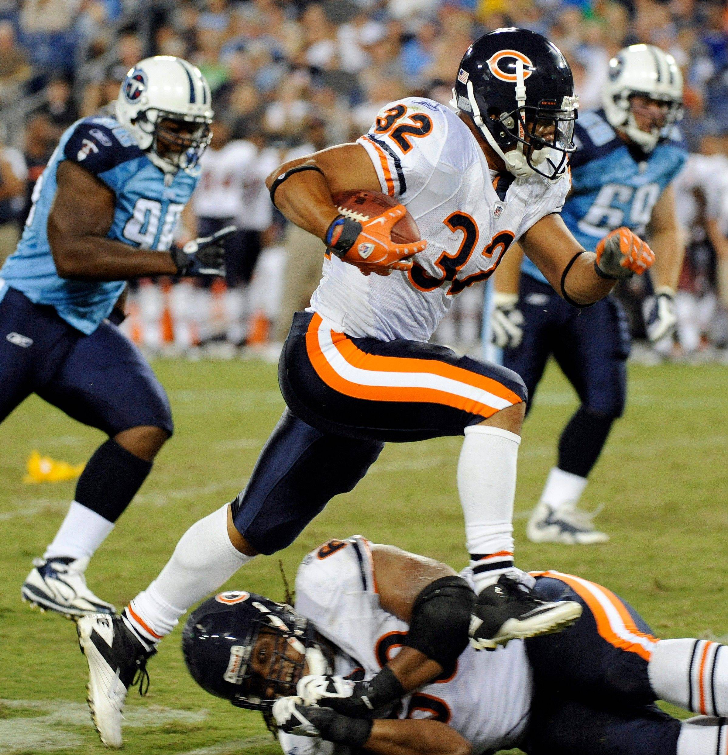 Bears running back Kahlil Bell leads the team with 28 preseason rushing attempts.
