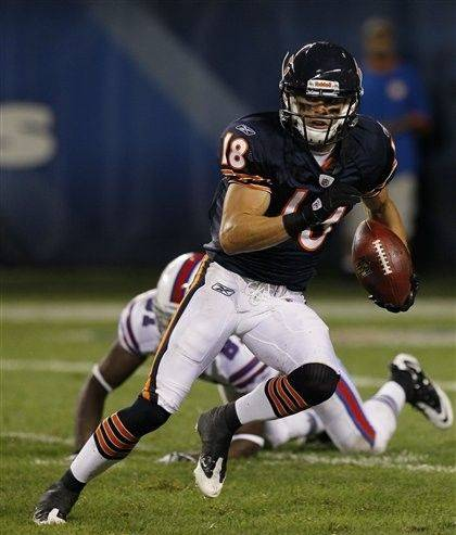 Bears rookie WR Dane Sanzenbacher has 6 receptions this preseason for 57 yards.