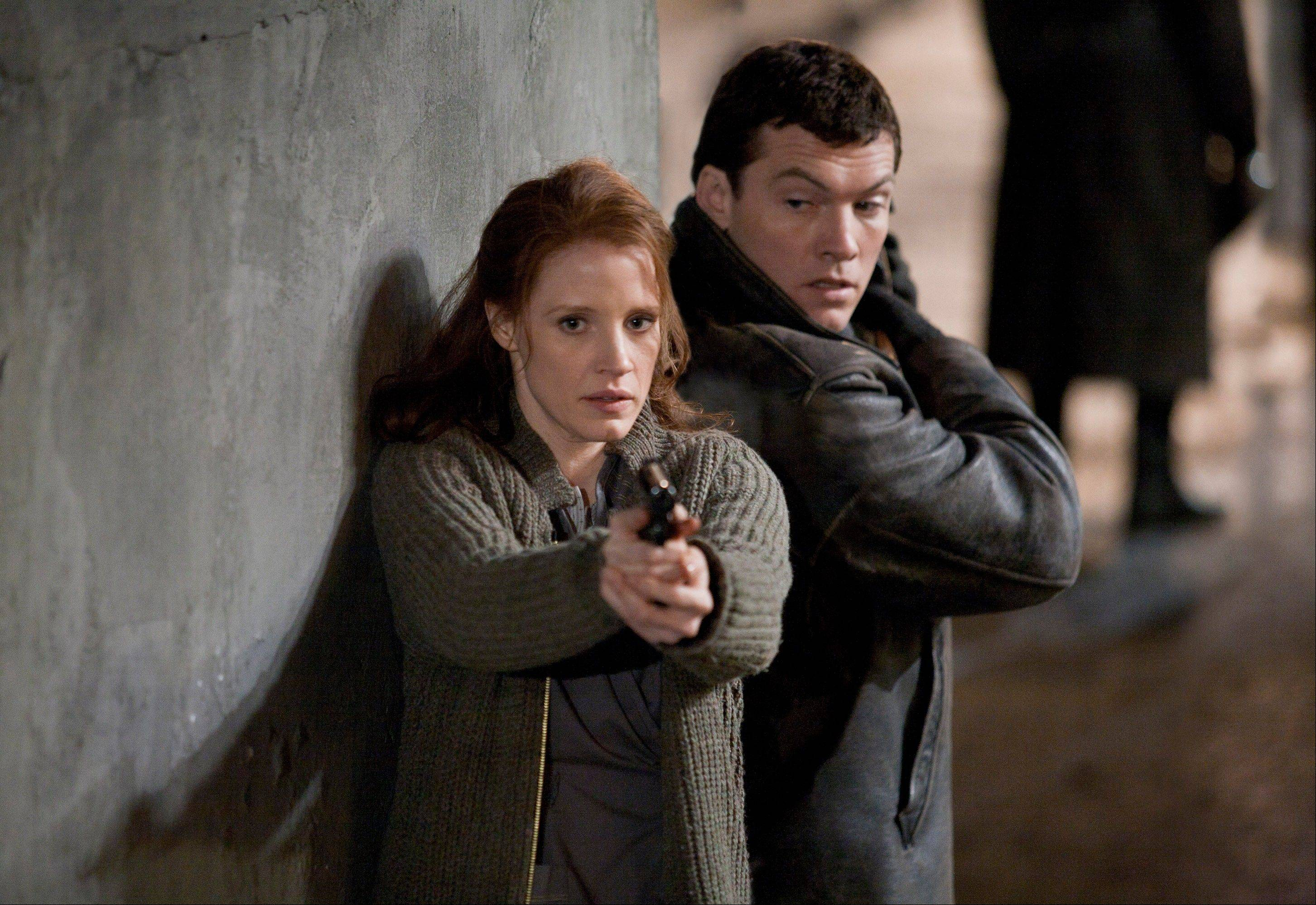 "Jessica Chastain and Sam Worthington try to hunt down a Nazi war criminal in ""The Debt."""