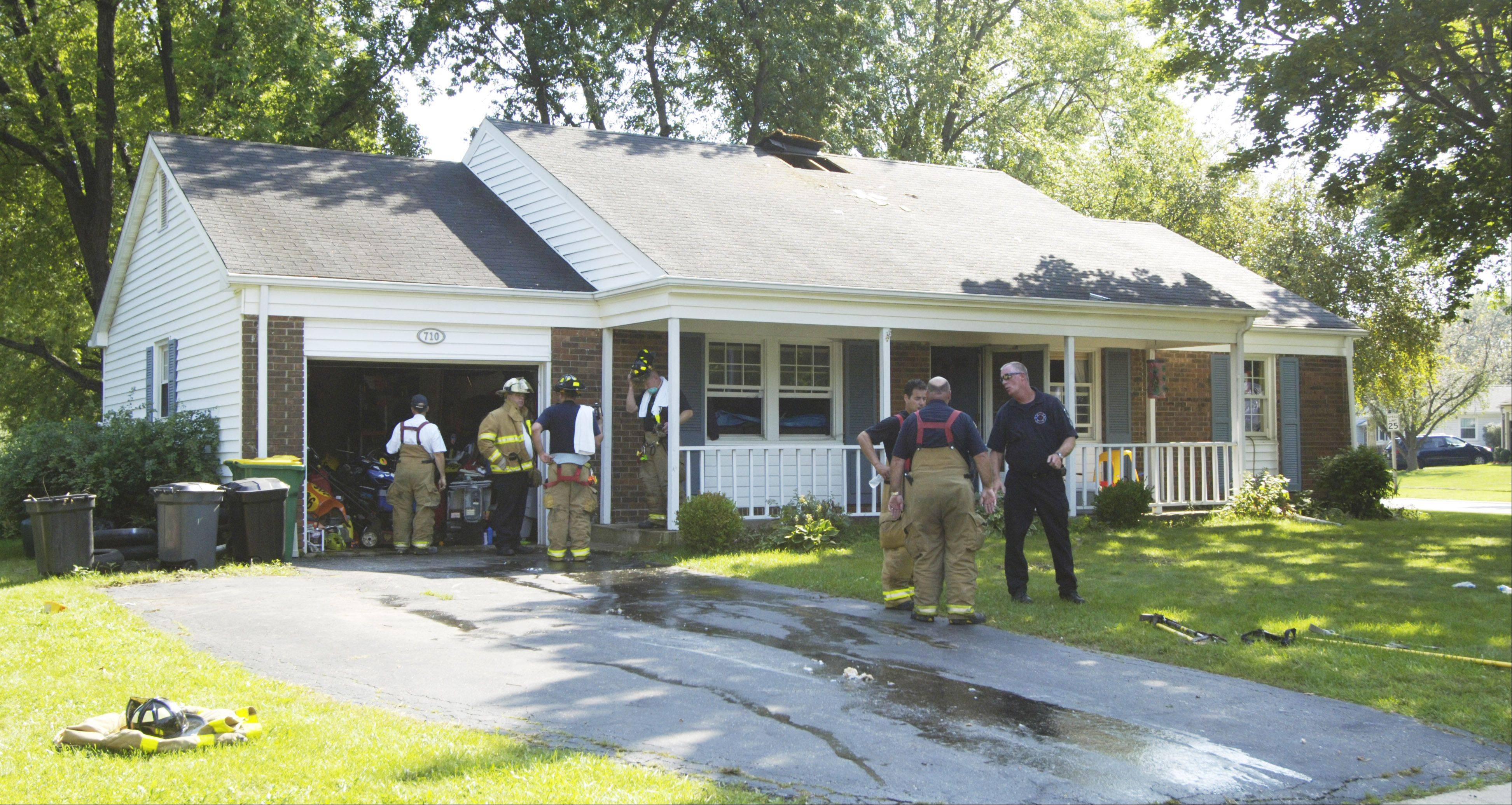 The Buffalo Grove Fire Department responded to a fire on Farrington Drive Wednesday afternoon. One dog died due to smoke inhalation.