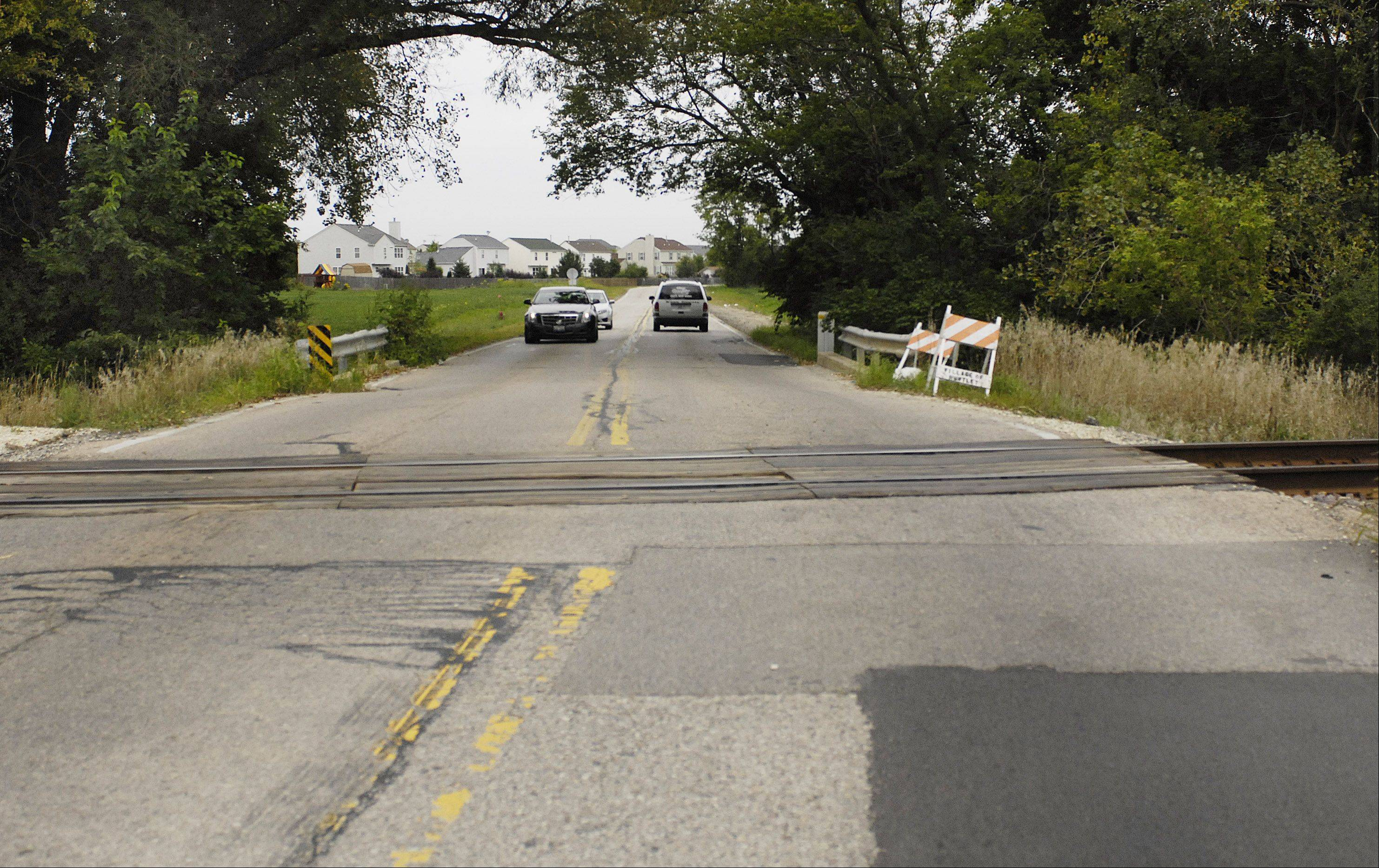 The rail crossing on Kreutzer Road in Huntley will be reconstructed and the road will be closed for five days in mid-September.
