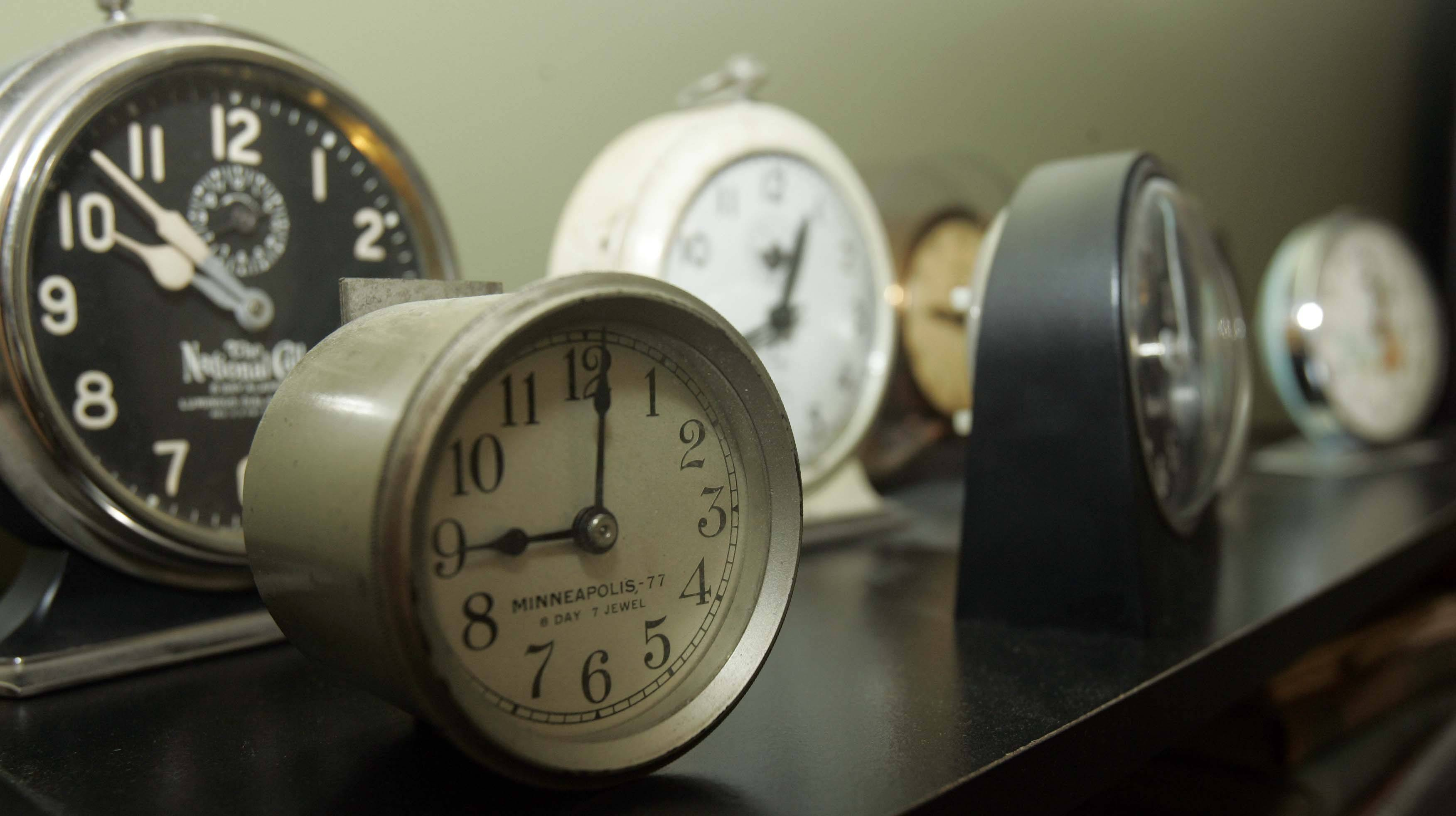 Jeff McIntire will show off his clock collection during the Historic Elgin House Tour.