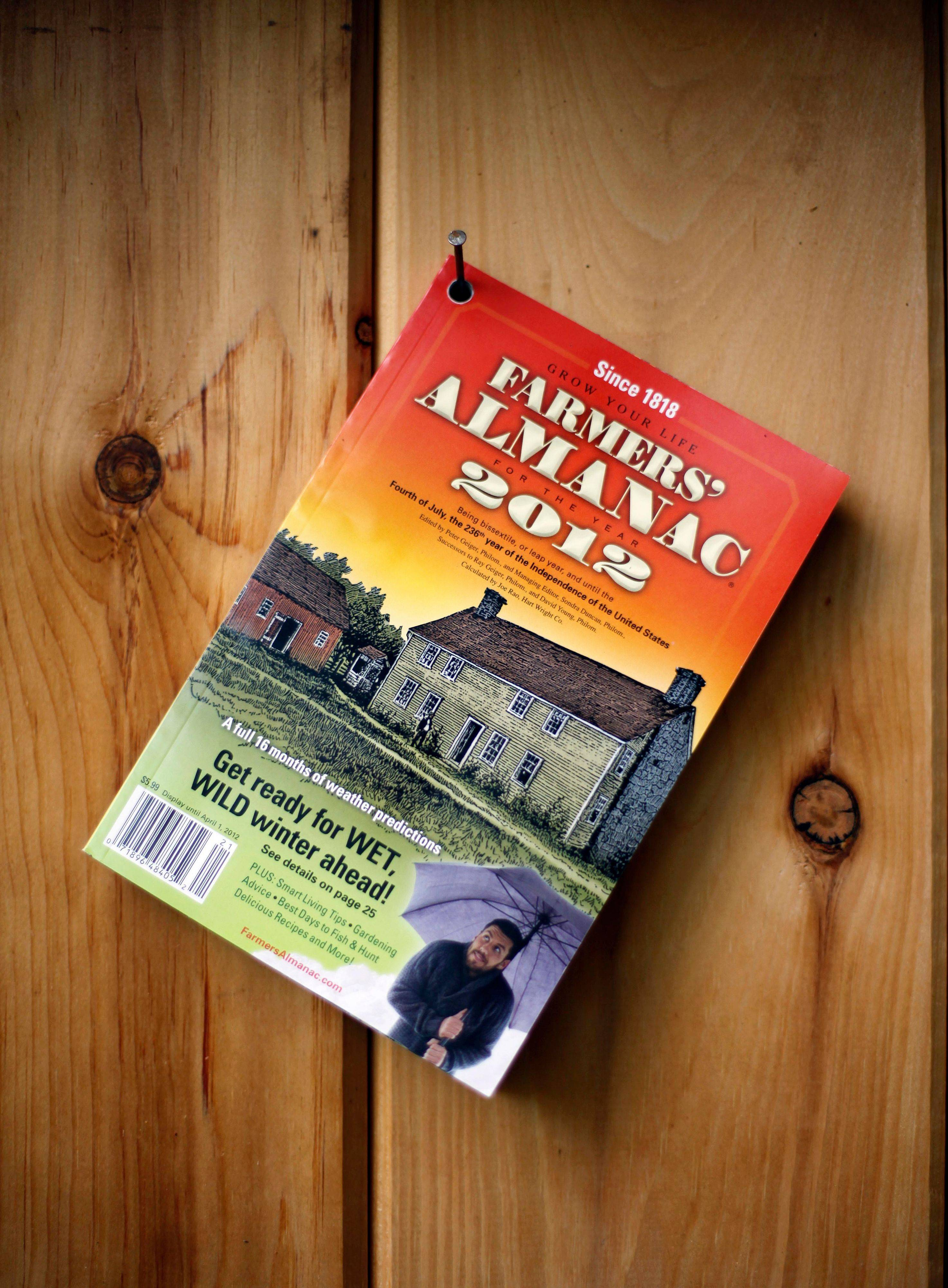 The Farmers� Almanac�s publishers still continue the tradition started in 1910 of pre-drilling holes in the corner for hanging on an outhouse hook.