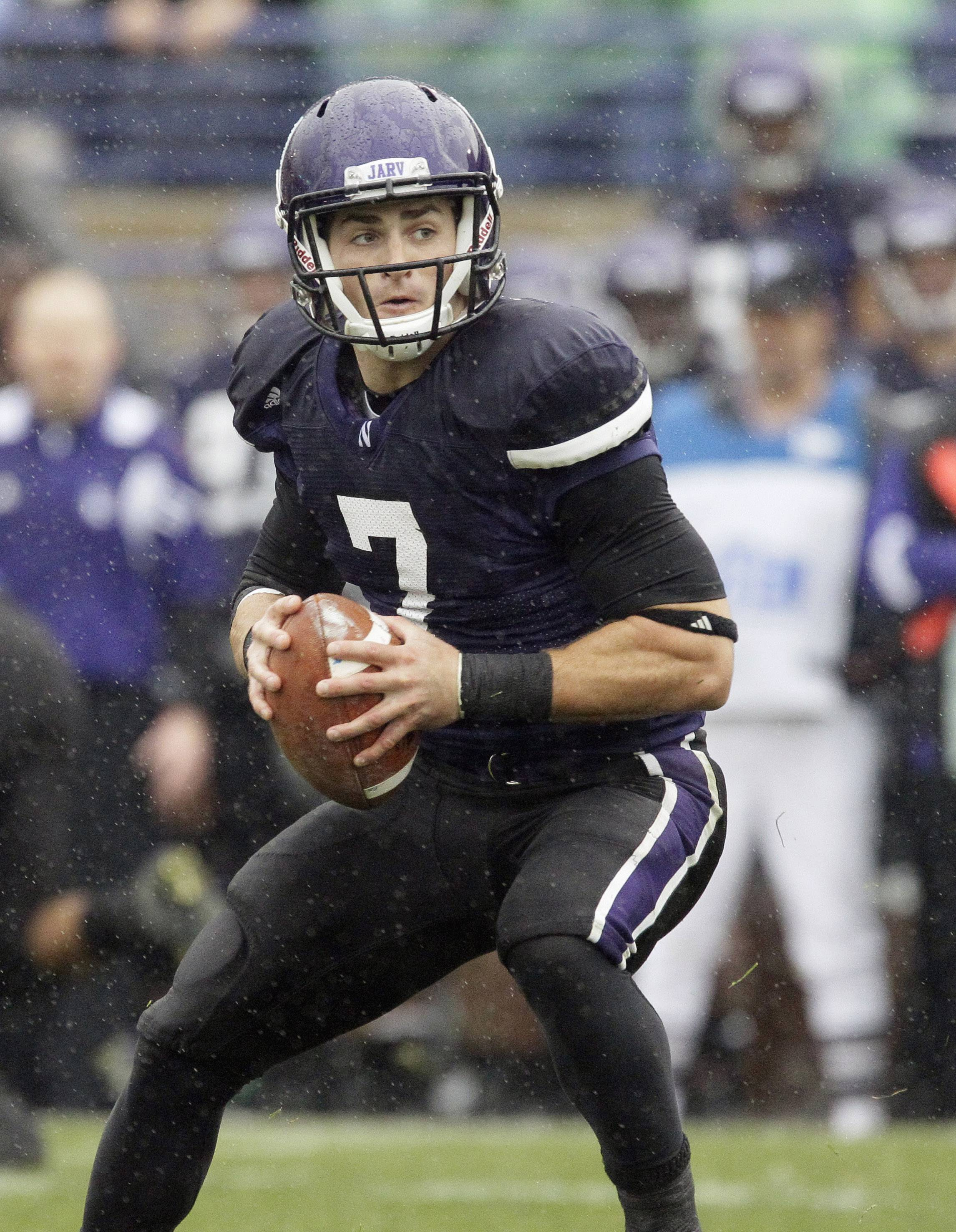 Northwestern quarterback Dan Persa, who is still recovering from a ruptured Achilles' tendon, is listed as questionable for Saturday's opener at Boston College.