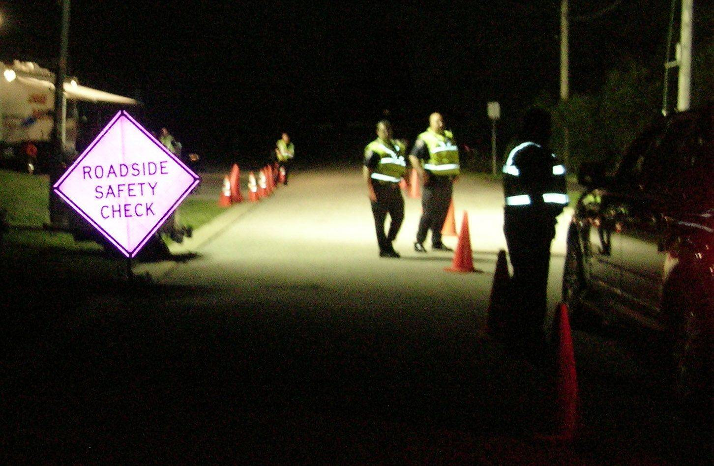 Lombard police check drivers for alcohol impairment and other violations during a roadside safety check funded by a grant from the Illinois Department of Transportation. Lombard received a $6,579 grant this year to conduct a traffic safety enforcement campaign around Labor Day weekend.