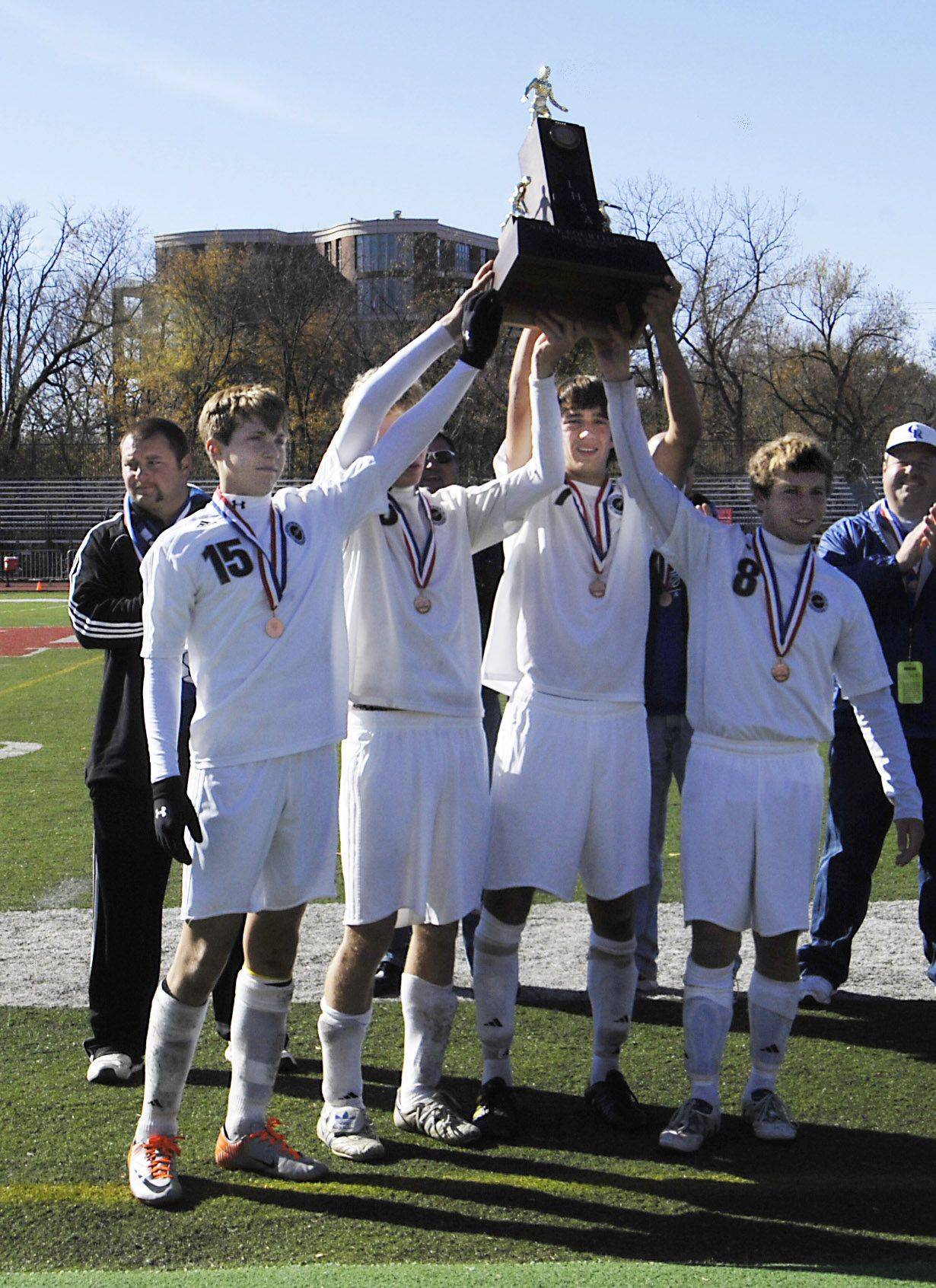 Burlington Central�s boys soccer team is hoping it can hoist another state trophy later this fall. The Rockets finished fourth in Class 2A last season.